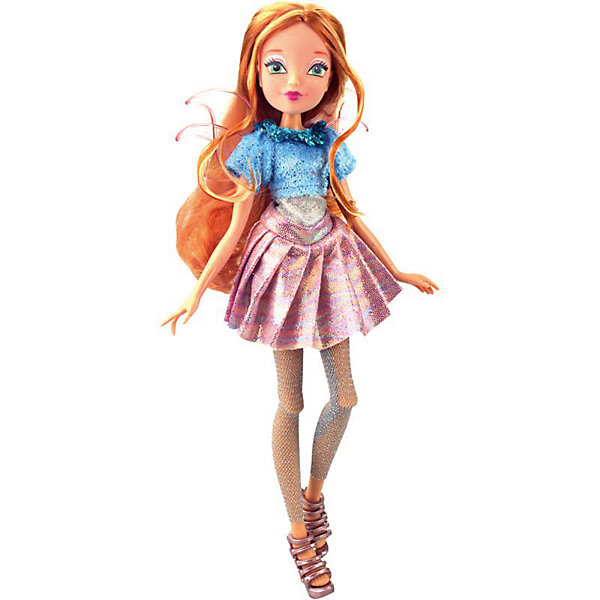Кукла Winx Club WOW Лофт Флора, 35 смПопулярные игрушки<br>Характеристики товара:<br><br>• возраст: от 3 лет;<br>• материал: пластик;<br>• размер упаковки: 35х21х6 см;<br>• вес: 245 гр.;<br>•высота куклы: 28 см;<br>•упаковка: коробка;<br>•страна производитель: Китай;<br>• бренд: Winx Club.<br><br>Кукла Winx Club из коллекции «WOW Лофт» Флора приглашает каждую любительницу мультипликационного сериала Winx на встречу приключениям. Образ куклы в точности повторяет образ героини в новом мультсериале «Мир Винкс», где феи обитают в обычном мире и, скрывая свои способности, ищут талантливых людей в шоу под названием WOW.<br><br>Блум одета в розовую сияющую юбку и голубой блестящий топ. На ногах у неё стильные блестящие леггинсы в сеточку и розовые босоножки. За спиной у куклы почти невидимые розовые крылышки, которые фея скрывает от внешнего мира.<br><br>Талант Флоры – умение готовить и ухаживать за другими, поэтому в комплекте с куклой идет поднос с чайником и чашечкой для чаепития.<br><br>Ноги и руки у куклы подвижные, их можно сгибать в суставах и придавать фее различные позы. Кукла в точности повторяет черты лица своего мультипликационного прототипа. Длинные волосы Флоры выполнены из гладкого нейлона высокого качества и надежно прошиты. Волосы можно без проблем расчесывать и укладывать, так как они не запутываются.<br><br>Куклу Winx Club «WOW Лофт» Флора можно купить в нашем интернет-магазине.<br>Ширина мм: 210; Глубина мм: 60; Высота мм: 350; Вес г: 225; Возраст от месяцев: 36; Возраст до месяцев: 120; Пол: Женский; Возраст: Детский; SKU: 7097675;