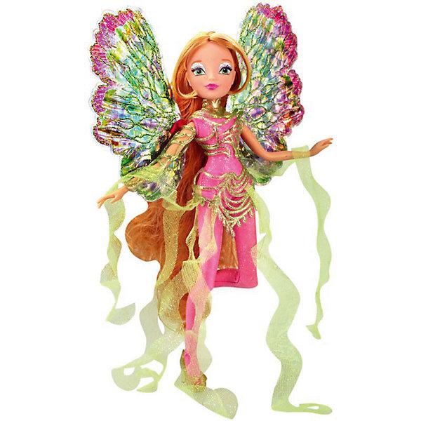 Кукла Winx Club WOW Дримикс Флора, 36 смПопулярные игрушки<br>Характеристики товара:<br><br>• возраст: от 3 лет;<br>• материал: пластик;<br>• размер упаковки: 30х36х7 см;<br>• вес: 400 гр.;<br>•высота куклы: 29 см;<br>•упаковка: блистер;<br>•страна производитель: Китай;<br>• бренд: Winx Club.<br><br>Кукла Winx Club из коллекции «WOW Дримикс» Флора приглашает каждую любительницу мультипликационного сериала Winx на встречу приключениям. Образ куклы в точности повторяет образ героини в новом мультсериале «Мир Винкс», где феи обитают в обычном мире и, скрывая свои способности, ищут талантливых людей в шоу под названием WOW.<br><br>Образ феи в перевоплощении Дримикс привлекает взгляд: Флора одета в блестящий розовый комбинезон с пластиковыми съемными вставками. За спиной у куклы большие разноцветные крылья, которые также можно снять, а на ногах изящные туфельки.<br><br>Ноги и руки у куклы подвижные, их можно сгибать в суставах и придавать фее различные позы. Кукла в точности повторяет черты лица своего мультипликационного прототипа. У Флоры длинные русые волосы, которые выполнены из гладкого нейлона высокого качества и надежно прошиты. <br><br>Куклу Winx Club «WOW Дримикс» Флора можно купить в нашем интернет-магазине.<br><br>Ширина мм: 300<br>Глубина мм: 65<br>Высота мм: 360<br>Вес г: 225<br>Возраст от месяцев: 36<br>Возраст до месяцев: 120<br>Пол: Женский<br>Возраст: Детский<br>SKU: 7097681