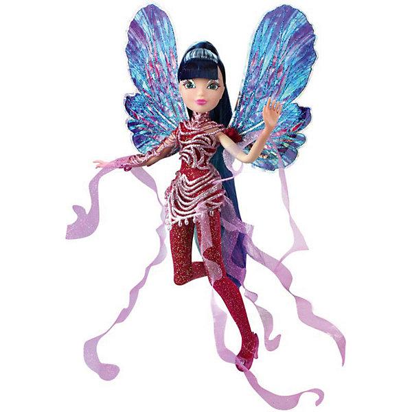 Кукла Winx Club WOW Дримикс Муза, 36 смWinx Club<br>Характеристики товара:<br><br>• возраст: от 3 лет;<br>• материал: пластик;<br>• размер упаковки: 30х36х7 см;<br>• вес: 400 гр.;<br>•высота куклы: 29 см;<br>•упаковка: блистер;<br>•страна производитель: Китай;<br>• бренд: Winx Club.<br><br>Кукла Winx Club из коллекции «WOW Дримикс» Муза приглашает каждую любительницу мультипликационного сериала Winx на встречу приключениям. Образ куклы в точности повторяет образ героини в новом мультсериале «Мир Винкс», где феи обитают в обычном мире и, скрывая свои способности, ищут талантливых людей в шоу под названием WOW.<br><br>Образ феи в перевоплощении Дримикс привлекает взгляд: Муза одета в бордовый блестящий комбинезон с пластиковыми съемными вставками сиреневого цвета. За спиной у куклы большие разноцветные крылья, которые также можно снять, а на ногах изящные туфельки.<br><br>Ноги и руки у куклы подвижные, их можно сгибать в суставах и придавать фее различные позы. Кукла в точности повторяет черты лица своего мультипликационного прототипа. У Музы длинные, собранные в хвост, волосы, которые выполнены из гладкого нейлона высокого качества и надежно прошиты. <br><br>Куклу Winx Club «WOW Дримикс» Муза можно купить в нашем интернет-магазине.<br>Ширина мм: 300; Глубина мм: 65; Высота мм: 360; Вес г: 225; Возраст от месяцев: 36; Возраст до месяцев: 120; Пол: Женский; Возраст: Детский; SKU: 7097683;