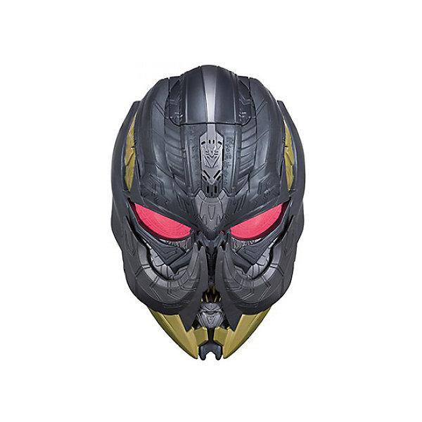 Электронная маска Hasbro Трансформеры 5, МегатронДругие наборы<br>Характеристики товара:<br><br>• возраст: от 5 лет;<br>• материал: пластик;<br>• тип батареек: 3 батарейки ААА;<br>• наличие батареек: демонстрационные в комплекте;<br>• размер упаковки: 29,8х22,9х2,5 см;<br>• вес упаковки: 850 гр.;<br>• страна производитель: Китай.<br><br>Электронная маска Трансформеров «Мегатрон» Hasbro позволит попробовать себя в роли одного из известных персонажей трансформеров. Она создана по мотивам фильма «Трансформеры: Последний рыцарь». Маска оснащена необычной функцией изменения голоса. Одевается при помощи удобного регулирующегося ремешка.<br><br>Электронную маску Трансформеров «Мегатрон» Hasbro можно приобрести в нашем интернет-магазине.<br><br>Ширина мм: 9999<br>Глубина мм: 9999<br>Высота мм: 9999<br>Вес г: 9999<br>Возраст от месяцев: 60<br>Возраст до месяцев: 120<br>Пол: Мужской<br>Возраст: Детский<br>SKU: 7097971