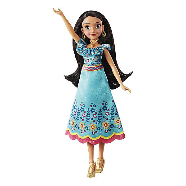 Кукла Hasbro Disney Princess Елена - принцесса Авалона, ЕленаПопулярные игрушки<br>Характеристики товара:<br><br>• возраст: от 3 лет;<br>• материал: пластик, текстиль;<br>• высота куклы: 30 см;<br>• размер упаковки: 34х15х6 см;<br>• вес упаковки: 160 гр.;<br>• страна производитель: Китай.<br><br>Кукла «Елена принцесса Авалора» Hasbro — героиня известного мультсериала. Она одета в голубое платье, украшенное цветочным принтом. Дополняют образ принцессы большие круглые серьги. У куклы темные мягкие волосы, которые можно расчесывать заплетать и украшать. Руки и ноги куклы подвижны.<br><br>Куклу «Елена принцесса Авалора» Hasbro можно приобрести в нашем интернет-магазине.<br><br>Ширина мм: 9999<br>Глубина мм: 9999<br>Высота мм: 9999<br>Вес г: 9999<br>Возраст от месяцев: 36<br>Возраст до месяцев: 120<br>Пол: Женский<br>Возраст: Детский<br>SKU: 7097973