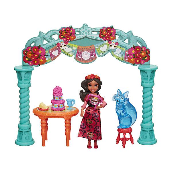 Набор с мини-куклой Hasbro Disney Princess Елена - принцесса Авалона, Елена на праздникеПопулярные игрушки<br>Характеристики товара:<br><br>• возраст: от 4 лет;<br>• материал: пластик;<br>• в комплекте: кукла, аксессуары;<br>• размер упаковки: 23х20,3х5,4 см;<br>• вес упаковки: 149 гр.;<br>• страна производитель: Китай.<br><br>Игровой набор «Праздник Елены» Hasbro создан по мотивам известного мультсериала. Елена одета в яркое красное платье, туфельки, а голову украшает венок из роз. В набор входят ее друг Зузу, а также аксессуары, с которыми Елена может устроить чаепитие и пригласить друзей.<br><br>Игровой набор «Праздник Елены» Hasbro можно приобрести в нашем интернет-магазине.<br>Ширина мм: 9999; Глубина мм: 9999; Высота мм: 9999; Вес г: 9999; Возраст от месяцев: 48; Возраст до месяцев: 120; Пол: Женский; Возраст: Детский; SKU: 7097977;