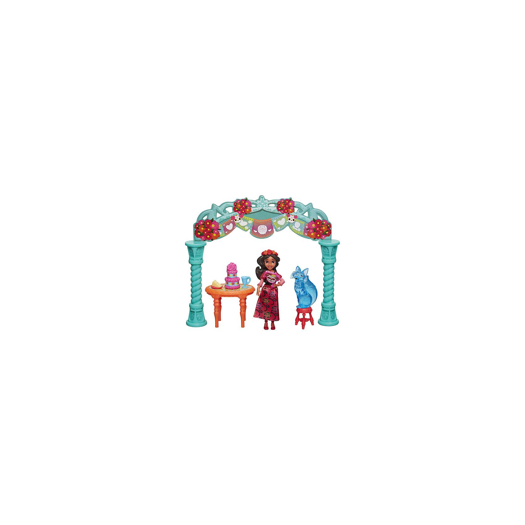 Набор с мини-куклой Hasbro Елена - принцесса Авалона, Елена на праздникеПопулярные игрушки<br>Характеристики товара:<br><br>• возраст: от 4 лет;<br>• материал: пластик;<br>• в комплекте: кукла, аксессуары;<br>• размер упаковки: 23х20,3х5,4 см;<br>• вес упаковки: 149 гр.;<br>• страна производитель: Китай.<br><br>Игровой набор «Праздник Елены» Hasbro создан по мотивам известного мультсериала. Елена одета в яркое красное платье, туфельки, а голову украшает венок из роз. В набор входят ее друг Зузу, а также аксессуары, с которыми Елена может устроить чаепитие и пригласить друзей.<br><br>Игровой набор «Праздник Елены» Hasbro можно приобрести в нашем интернет-магазине.<br><br>Ширина мм: 9999<br>Глубина мм: 9999<br>Высота мм: 9999<br>Вес г: 9999<br>Возраст от месяцев: 48<br>Возраст до месяцев: 120<br>Пол: Женский<br>Возраст: Детский<br>SKU: 7097977