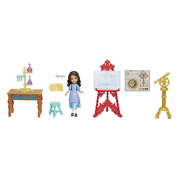 Набор с мини-куклой Hasbro Disney Princess Елена - принцесса Авалона, Изабелла в лабораторииПринцессы Дисней<br>Характеристики товара:<br><br>• возраст: от 4 лет;<br>• материал: пластик;<br>• в комплекте: кукла, аксессуары;<br>• размер упаковки: 23х20,3х5,4 см;<br>• вес упаковки: 149 гр.;<br>• страна производитель: Китай.<br><br>Игровой набор «Лаборатория Изабель» Hasbro создан по мотивам известного мультсериала. В наборе представлена кукла Изабель и аксессуары лаборатории для проведения исследований.<br><br>Игровой набор «Лаборатория Изабель» Hasbro можно приобрести в нашем интернет-магазине.<br><br>Ширина мм: 9999<br>Глубина мм: 9999<br>Высота мм: 9999<br>Вес г: 9999<br>Возраст от месяцев: 48<br>Возраст до месяцев: 120<br>Пол: Женский<br>Возраст: Детский<br>SKU: 7097978