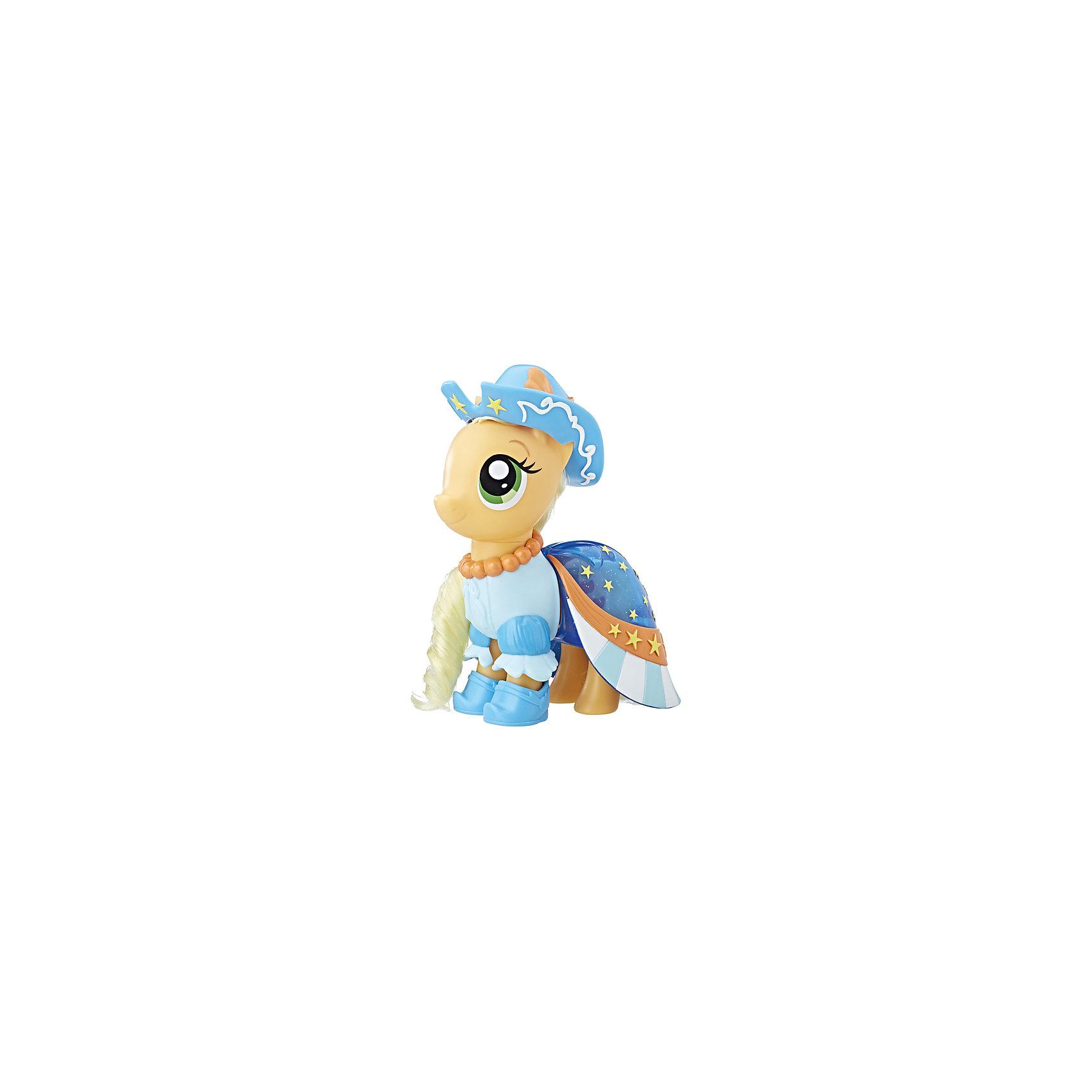 Игровой набор Hasbro My Little Pony Сияние. Пони-модницы, ЭпплджекФигурки из мультфильмов<br>Характеристики:<br><br>• в наборе MLP представлен персонаж из серии «Сияние»;<br>• пони-модница одета в яркий наряд, имеется головной убор;<br>• фигурки могут принять участие в различных сюжетно-ролевых играх, в процессе которых развивается фантазия, расширяется словарный запас, девочки учатся взаимодействовать друг с другом;<br>• материал игрушки: пластик, полимер;<br>• в комплекте аксессуары.<br><br>MLP «Сияние» пони-модницы можно купить в нашем интернет-магазине.<br><br>Ширина мм: 9999<br>Глубина мм: 9999<br>Высота мм: 9999<br>Вес г: 9999<br>Возраст от месяцев: 36<br>Возраст до месяцев: 120<br>Пол: Женский<br>Возраст: Детский<br>SKU: 7097988