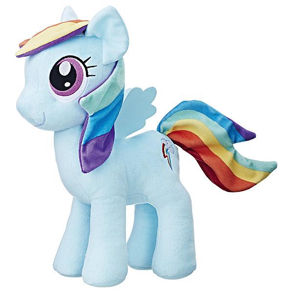 Мягкая игрушка Hasbro My little Pony Плюшевые пони, Рэйнбоу Дэш 30 смМягкие игрушки из мультфильмов<br><br><br>Ширина мм: 89<br>Глубина мм: 203<br>Высота мм: 305<br>Вес г: 259<br>Возраст от месяцев: 36<br>Возраст до месяцев: 2147483647<br>Пол: Женский<br>Возраст: Детский<br>SKU: 7098831