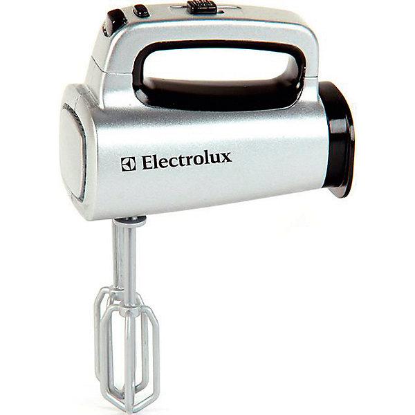 Игрушечный миксер Klein ElectroluxИгрушечная бытовая техника<br>Игрушечная копия ручного миксера ELECTROLUX. Игрушка имитирует функции настоящего миксера. Насадки снимаются и вращаются.Для работы необходимы батарейки типа R03 х 2 шт. (в комплект не входят).<br><br>Ширина мм: 140<br>Глубина мм: 178<br>Высота мм: 115<br>Вес г: 610<br>Возраст от месяцев: 36<br>Возраст до месяцев: 120<br>Пол: Унисекс<br>Возраст: Детский<br>SKU: 7098837