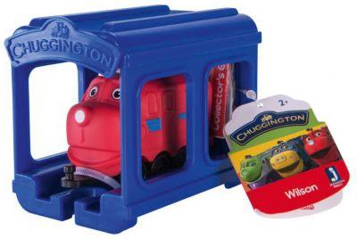 Паровозик Jazwares Chuggington, Уилсон с гаражом