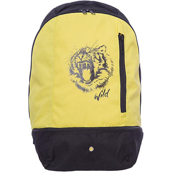 Рюкзак Scool для мальчикаАксессуары<br>Характеристики товара:<br><br>• цвет: черный/желтый;<br>• состав; 100% полиэстер;<br>• подкладка: 100% полиэстер;<br>• застежка: молния;<br>• широкие, удобные регулируемые лямки;<br>• без съемного внутреннего сапожка;<br>• внутри дополнительный вкладной мешок для обуви;<br>• два внешних кармана на молнии;<br>• страна бренда: Германия;<br>• страна изготовитель: Китай.<br><br>Удобный рюкзак в стиле милитари с забавным принтом. Внутри дополнительный вкладной мешок, в который можно класть обувь. Рюкзак застегивается на молнию, лямки можно регулировать.<br><br>Рюкзак Scool для мальчика (Скул) можно купить в нашем интернет-магазине.<br>Ширина мм: 227; Глубина мм: 11; Высота мм: 226; Вес г: 350; Цвет: белый; Возраст от месяцев: 96; Возраст до месяцев: 168; Пол: Мужской; Возраст: Детский; Размер: one size; SKU: 7104656;