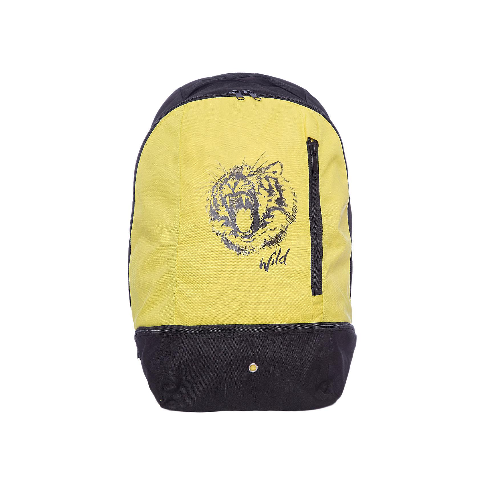 Рюкзак Scool для мальчикаАксессуары<br>Характеристики товара:<br><br>• цвет: черный/желтый;<br>• состав; 100% полиэстер;<br>• подкладка: 100% полиэстер;<br>• застежка: молния;<br>• широкие, удобные регулируемые лямки;<br>• без съемного внутреннего сапожка;<br>• внутри дополнительный вкладной мешок для обуви;<br>• два внешних кармана на молнии;<br>• страна бренда: Германия;<br>• страна изготовитель: Китай.<br><br>Удобный рюкзак в стиле милитари с забавным принтом. Внутри дополнительный вкладной мешок, в который можно класть обувь. Рюкзак застегивается на молнию, лямки можно регулировать.<br><br>Рюкзак Scool для мальчика (Скул) можно купить в нашем интернет-магазине.<br><br>Ширина мм: 227<br>Глубина мм: 11<br>Высота мм: 226<br>Вес г: 350<br>Цвет: белый<br>Возраст от месяцев: 96<br>Возраст до месяцев: 168<br>Пол: Мужской<br>Возраст: Детский<br>Размер: one size<br>SKU: 7104656