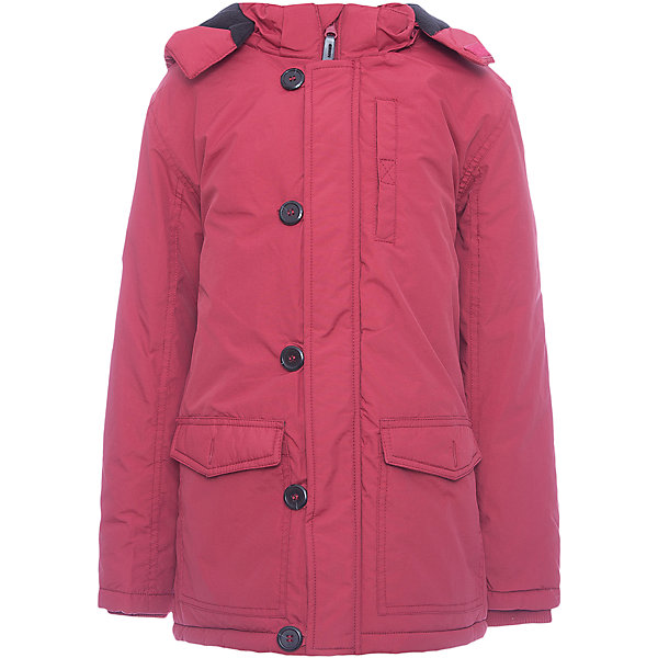 Куртка-парка Scool для мальчикаВерхняя одежда<br>Характеристики товара:<br><br>• цвет: темно-красный;<br>• состав; 100% нейлон;<br>• подкладка: 100% полиэстер, флис;<br>• утеплитель: 100% полиэстер, 150 г/м2;<br>• сезон: демисезон;<br>• температурный режим: от +10 до -10С;<br>• водоотталкивающая ткань;<br>• застежка: молния с защитой подбородка;<br>• дополнительная планка на пуговицах;<br>• мягкая флисовая подкладка;<br>• куртка с удлиненной спинкой;<br>• съемный капюшон на молнии;<br>• мягкие трикотажные манжеты в рукавах;<br>• светоотражающие детали;<br>•  два кармана;<br>• коллекция: рок-фестиваль;<br>• страна бренда: Германия;<br>• страна изготовитель: Китай.<br><br>Куртка Scool для мальчика. Утепленная куртка - парка из водоотталкивающей ткани с капюшоном - отличное решение для промозглой погоды. Модель на молнии. Специальный карман для бегунка не позволит застежке травмировать нежную детскую кожу. Подкладка модели из мягкого флиса. <br><br>Куртка с удлиненной спинкой. Капюшон на молнии, при необходимости его можно отстегнуть.  Рукава дополнены трикотажными манжетами для дополнительного сохранения тепла. Светоотражатели обеспечаат видимость ребенка в темное время суток.<br><br>Куртку-парку Scool для мальчика (Скул) можно купить в нашем интернет-магазине.<br><br>Ширина мм: 356<br>Глубина мм: 10<br>Высота мм: 245<br>Вес г: 519<br>Цвет: красный<br>Возраст от месяцев: 96<br>Возраст до месяцев: 108<br>Пол: Мужской<br>Возраст: Детский<br>Размер: 134,164,158,152,146,140<br>SKU: 7104674