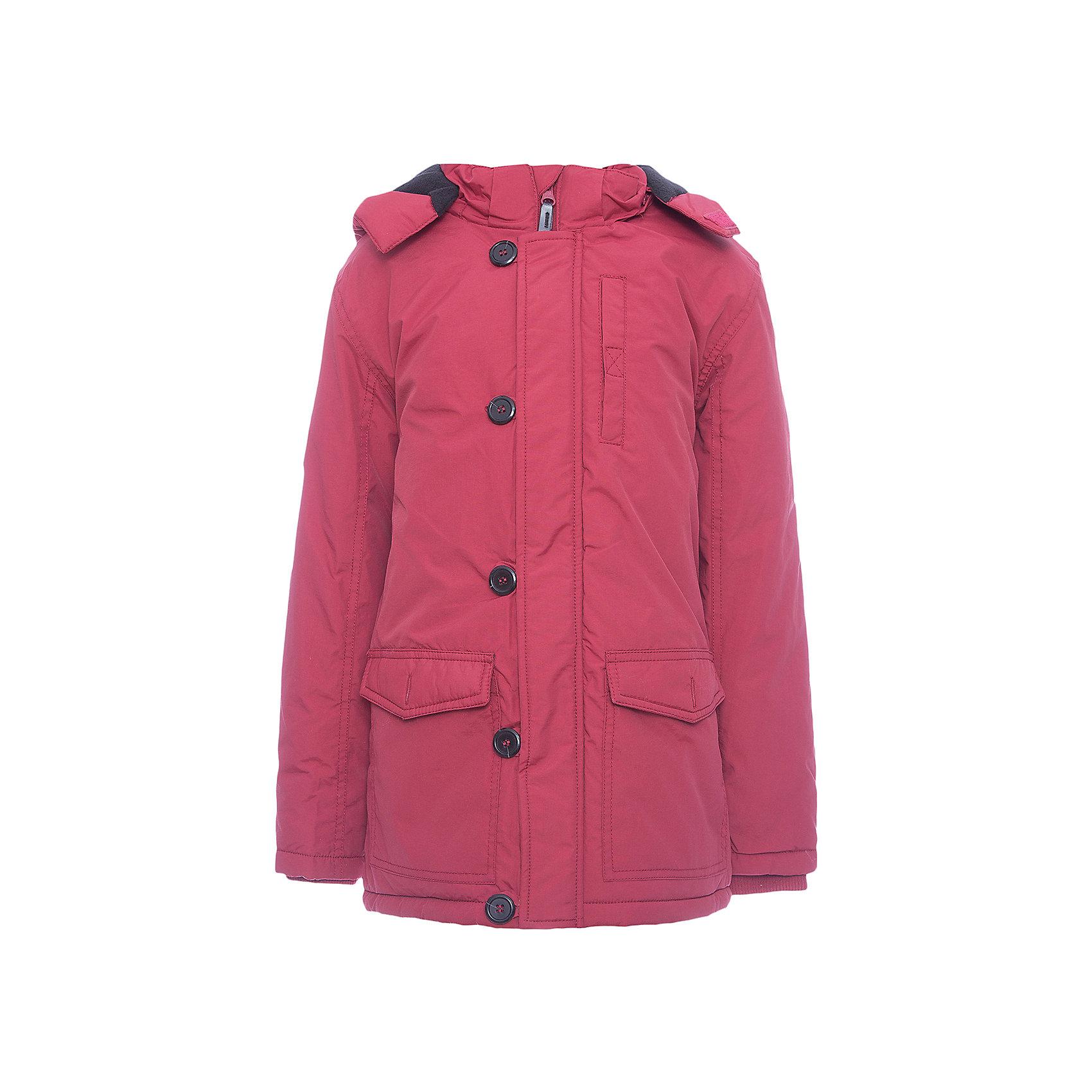 Куртка Scool для мальчикаВерхняя одежда<br>Куртка Scool для мальчика<br>Утепленная куртка - парка из водоотталкивающей ткани с капюшоном - отличное решение для промозглой погоды. Модель на молнии. Специальный карман для бегунка не позволит застежке травмировать нежную детскую кожу. Подкладка модели из мягкого флиса. Куртка с удлиненной спинкой. Капюшон на молнии, при необходимости его можно отстегнуть.  Рукава дополнены трикотажными манжетами для дополнительного сохранения тепла. Светоотражатели обеспечаат видимость ребенка в темное время суток.<br>Состав:<br>Верх: 100% нейлон, подкладка: 100% полиэстер, наполнитель: 100% полиэстер, 150 г/м2<br><br>Ширина мм: 356<br>Глубина мм: 10<br>Высота мм: 245<br>Вес г: 519<br>Цвет: красный<br>Возраст от месяцев: 156<br>Возраст до месяцев: 168<br>Пол: Мужской<br>Возраст: Детский<br>Размер: 164,134,140,146,152,158<br>SKU: 7104674
