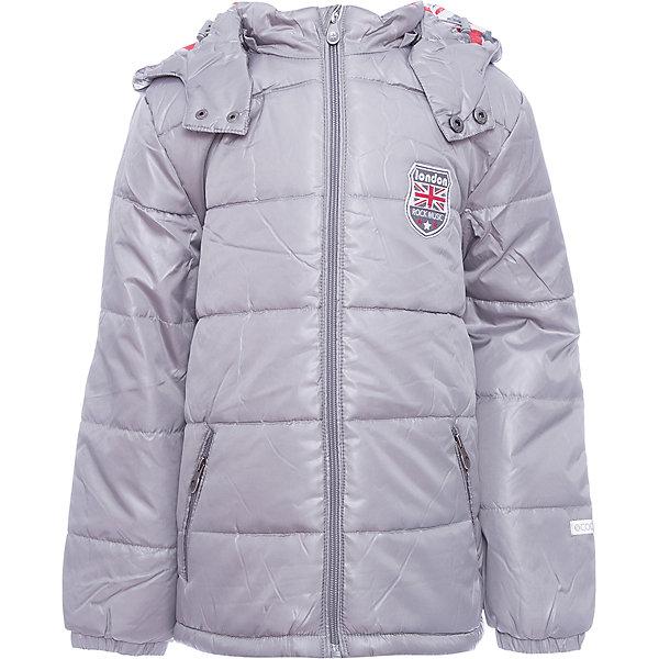 Куртка Scool для мальчикаВерхняя одежда<br>Характеристики товара:<br><br>• цвет: серебро;<br>• состав; 100% нейлон;<br>• подкладка: 100% полиэстер;<br>• утеплитель: 100% полиэстер, 200 г/м2;<br>• сезон: демисезон;<br>• температурный режим: от +10 до -10С;<br>• водоотталкивающая ткань;<br>• застежка: молния с защитой подбородка;<br>• яркая контрастная подкладка;<br>• регулируемый низ, шнурок-кулиска со стопперами;<br>• съемный капюшон на кнопках;<br>• регулируемый капюшон, шнурок-кулиска со стопперами;<br>• мягкие трикотажные манжеты в рукавах;<br>• светоотражающие детали;<br>• карманы на молнии;<br>• коллекция: рок-фестиваль;<br>• страна бренда: Германия;<br>• страна изготовитель: Китай.<br><br>Куртка Scool для мальчика. Утепленная куртка из водоотталкивающей ткани - отличное решение для промозглой погоды. Модель на молнии, специальный карман для фиксации бегунка у горловины куртки не позволит застежке травмировать нежную детскую кожу. Светоотражатели обеспечат видимость ребенка в темное время суток. <br><br>Низ куртки на регулируемом шнуре - кулиске со специальными скрытыми карманами для стопперов. Капюшон - на кнопках, при необходимости его можно легко отстегнуть. Модель дополнена вшивными карманами на молнии. В качестве дополнительного декора использована яркая подкладка.<br><br>Куртку Scool для мальчика (Скул) можно купить в нашем интернет-магазине.<br>Ширина мм: 356; Глубина мм: 10; Высота мм: 245; Вес г: 519; Цвет: серый; Возраст от месяцев: 96; Возраст до месяцев: 108; Пол: Мужской; Возраст: Детский; Размер: 134,164,158,152,146,140; SKU: 7104681;
