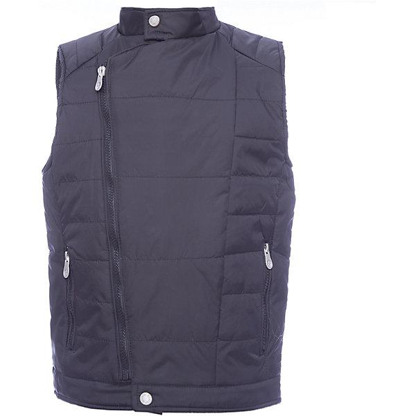 Жилет Scool для мальчикаВерхняя одежда<br>Характеристики товара:<br><br>• цвет: черный;<br>• состав; 100% нейлон;<br>• подкладка: 100% полиэстер;<br>• утеплитель: 100% полиэстер, 120 г/м2;<br>• сезон: демисезон;<br>• температурный режим: от +15 до -0С;<br>• водоотталкивающая ткань;<br>• застежка: ассиметричная молния;<br>• воротник-стойка застегивается на кнопку;<br>• гладкая подкладка из полиэстера;<br>• карманы на молнии;<br>• коллекция: рок-фестиваль;<br>• страна бренда: Германия;<br>• страна изготовитель: Китай.<br><br>Жилет Scool для мальчика. Утепленный жилет из водоотталкивающей ткани - отличное решение для прохладной погоды. Модель на асимметричной молнии. Воротник - стойка застегивается на кнопку. Модель дополнена вшивными карманами на молнии.<br><br>Жилет Scool для мальчика (Скул) можно купить в нашем интернет-магазине.<br><br>Ширина мм: 190<br>Глубина мм: 74<br>Высота мм: 229<br>Вес г: 236<br>Цвет: черный<br>Возраст от месяцев: 156<br>Возраст до месяцев: 168<br>Пол: Мужской<br>Возраст: Детский<br>Размер: 164,158,152,146,140,134<br>SKU: 7104688