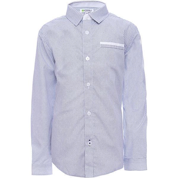 Рубашка Scool для мальчикаБлузки и рубашки<br>Характеристики товара:<br><br>• цвет: голубой;<br>• состав; 55% полиэстер, 45% хлопок;<br>• сезон: демисезон;<br>• особенности: с рисунком;<br>• застежка: пуговицы;<br>• манжеты рукавов на пуговице;<br>• отложной воротничок;<br>• нагрудный карман;<br>• коллекция: рок-фестиваль;<br>• страна бренда: Германия;<br>• страна изготовитель: Китай.<br><br>Рубашка Scool для мальчика. Эффектная рубашка с длинным рукавом - отличное решение для повседневного гардероба ребенка. Практична и очень удобна для повседневной носки. Ткань  мягкая и приятная на ощупь, не раздражает нежную детскую кожу. Стиль отвечает всем последним тенденциям детской моды. Рубашка с отложным воротником.<br><br>Рубашку Scool для мальчика (Скул) можно купить в нашем интернет-магазине.<br>Ширина мм: 174; Глубина мм: 10; Высота мм: 169; Вес г: 157; Цвет: белый; Возраст от месяцев: 96; Возраст до месяцев: 108; Пол: Мужской; Возраст: Детский; Размер: 134,164,158,152,146,140; SKU: 7104730;