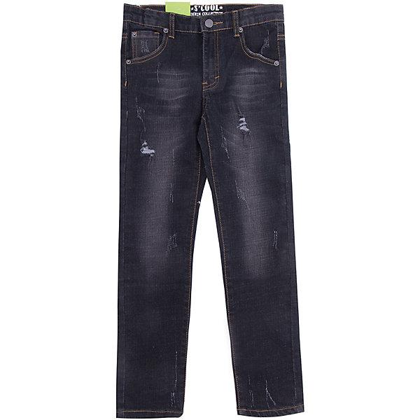 Джинсы Scool для мальчикаДжинсы<br>Характеристики товара:<br><br>• цвет: черный;<br>• состав; 98% хлопок, 2% эластан;<br>• сезон: демисезон;<br>• особенности: с потертостями;<br>• застежка: ширинка на молнии и пуговица;<br>• джинсы с потертостями;<br>• наличие шлевок для ремня;<br>• карманы;<br>• коллекция: рок-фестиваль;<br>• страна бренда: Германия;<br>• страна изготовитель: Китай.<br><br>Джинсы Scool для мальчика. Брюки джинсы из натурального хлопка. Классическая модель со шлевками. При необходимости можно использовать ремень. В качестве декора использованы потертости.<br><br>Джинсы Scool для мальчика (Скул) можно купить в нашем интернет-магазине.<br><br>Ширина мм: 215<br>Глубина мм: 88<br>Высота мм: 191<br>Вес г: 336<br>Цвет: черный<br>Возраст от месяцев: 132<br>Возраст до месяцев: 144<br>Пол: Мужской<br>Возраст: Детский<br>Размер: 152,158,164,134,140,146<br>SKU: 7104751