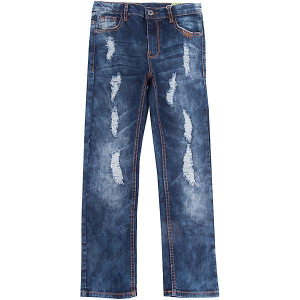 Джинсы Scool для мальчикаДжинсовая одежда<br>Характеристики товара:<br><br>• цвет: синий;<br>• состав; 98% хлопок, 2% эластан;<br>• сезон: демисезон;<br>• особенности: с потертостями;<br>• застежка: ширинка на молнии и пуговица;<br>• джинсы с потертостями;<br>• наличие шлевок для ремня;<br>• внутренняя регулировка обхвата талии;<br>• карманы;<br>• коллекция: рок-фестиваль;<br>• страна бренда: Германия;<br>• страна изготовитель: Китай.<br><br>Джинсы Scool для мальчика. Практичные брюки - джинсы - отличное решение для повседневного гардероба ребенка. Классическая 5-ти карманная модель. Пояс изнутри регулируется за счет удобной резинки на пуговицах. Джинсы со шлевками, при необходимости можно использовать ремень. Модель декорирована декоративными потертостями.<br><br>Джинсы Scool для мальчика (Скул) можно купить в нашем интернет-магазине.<br>Ширина мм: 215; Глубина мм: 88; Высота мм: 191; Вес г: 336; Цвет: синий; Возраст от месяцев: 96; Возраст до месяцев: 108; Пол: Мужской; Возраст: Детский; Размер: 134,164,158,152,146,140; SKU: 7104758;