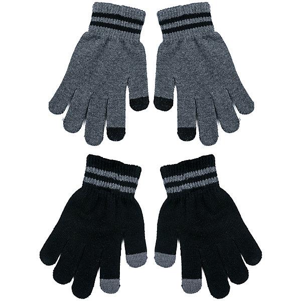 Перчатки Scool 2 пары для мальчикаВерхняя одежда<br>Характеристики товара:<br><br>• цвет: серый/черный;<br>• состав; 80% хлопок, 18% нейлон, 2% эластан;<br>• сезон: демисезон, зима;<br>• температурный режим: от +5 до -30С;<br>• особенности: вязаные;<br>• плотная резинка на манжетах;<br>• можно использовать как базовый слой в сильные холода;<br>• коллекция: рок-фестиваль;<br>• страна бренда: Германия;<br>• страна изготовитель: Китай.<br><br>Перчатки Scool для мальчика. Вязаные перчатки станут идеальным вариантом для прохладной погоды. Они очень мягкие, хорошо тянутся и прекрасно сохраняют тепло. На манжетах - плотная резинка, которая хорошо держит перчатки на руках ребенка. Модель выполнена в технике yarn dyed, в процессе производства используются разного цвета нити. При рекомендуемом уходе изделие не линяет и надолго остается в первоначальном виде.<br><br><br>Перчатки Scool для мальчика (Скул) можно купить в нашем интернет-магазине.<br><br>Ширина мм: 162<br>Глубина мм: 171<br>Высота мм: 55<br>Вес г: 119<br>Цвет: белый<br>Возраст от месяцев: 120<br>Возраст до месяцев: 132<br>Пол: Мужской<br>Возраст: Детский<br>Размер: 5,7,6<br>SKU: 7104832