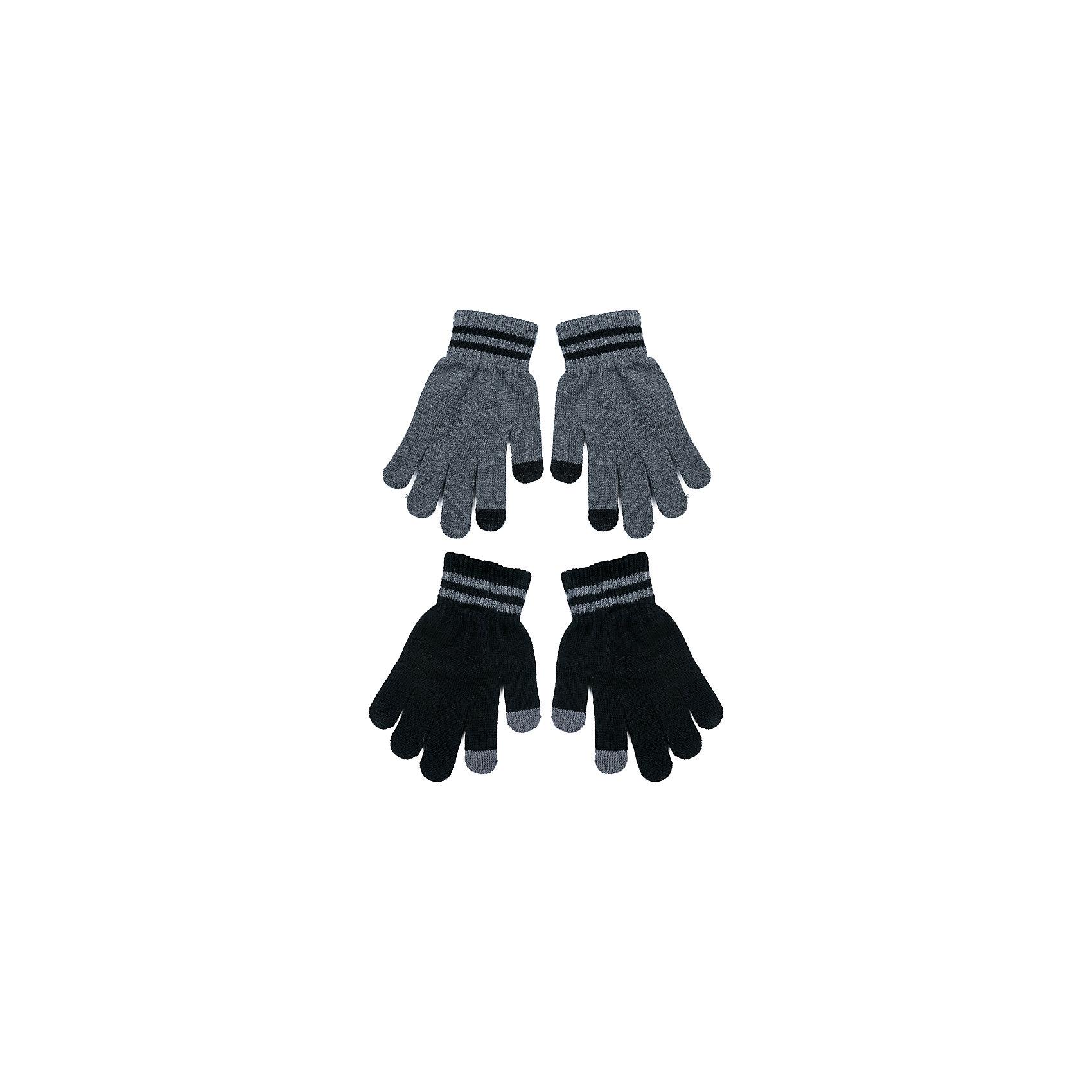 Перчатки Scool 2 пары для мальчикаВерхняя одежда<br>Характеристики товара:<br><br>• цвет: серый/черный;<br>• состав; 80% хлопок, 18% нейлон, 2% эластан;<br>• сезон: демисезон, зима;<br>• температурный режим: от +5 до -30С;<br>• особенности: вязаные;<br>• плотная резинка на манжетах;<br>• можно использовать как базовый слой в сильные холода;<br>• коллекция: рок-фестиваль;<br>• страна бренда: Германия;<br>• страна изготовитель: Китай.<br><br>Перчатки Scool для мальчика. Вязаные перчатки станут идеальным вариантом для прохладной погоды. Они очень мягкие, хорошо тянутся и прекрасно сохраняют тепло. На манжетах - плотная резинка, которая хорошо держит перчатки на руках ребенка. Модель выполнена в технике yarn dyed, в процессе производства используются разного цвета нити. При рекомендуемом уходе изделие не линяет и надолго остается в первоначальном виде.<br><br><br>Перчатки Scool для мальчика (Скул) можно купить в нашем интернет-магазине.<br><br>Ширина мм: 162<br>Глубина мм: 171<br>Высота мм: 55<br>Вес г: 119<br>Цвет: белый<br>Возраст от месяцев: 132<br>Возраст до месяцев: 156<br>Пол: Мужской<br>Возраст: Детский<br>Размер: 7,5,6<br>SKU: 7104832