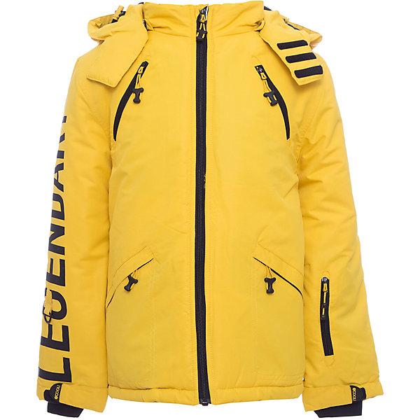 Куртка Scool для мальчикаВерхняя одежда<br>Характеристики товара:<br><br>• цвет: желтый;<br>• состав; 100% полиэстер;<br>• подкладка: 100% полиэстер, флис;<br>• утеплитель; 100% полиэстер, 250 г/м2;<br>• сезон: зима;<br>• температурный режим: от 0 до -20С;<br>• водоотталкивающая пропитка;<br>• застежка: молния с защитой подбородка;<br>• капюшон не отстегивается;<br>• регулируемый капюшон со шнурком-кулиской;<br>• сплошная флисовая подкладка;<br>• эластичные мягкие манжеты;<br>• снегозащитная юбка;<br>• низ изделия регулируется шнурком-кулиской;<br>• два накладных кармана;<br>• коллекция: милитари;<br>• страна бренда: Германия;<br>• страна изготовитель: Китай.<br><br>Куртка Scool для мальчика. Теплая куртка из ткани с водоотталкивающей пропиткой - отличное решение для холодной погоды. Вшивной капюшон дополнен регулируемым шнуром - кулиской. Подкладка из теплого флиса. Модель со снегозащитной юбкой. Низ изделия дополнен регулируемым шнуром - кулиской. Куртка дополнена накладными карманами.<br><br>Куртку Scool для мальчика (Скул) можно купить в нашем интернет-магазине.<br><br>Ширина мм: 356<br>Глубина мм: 10<br>Высота мм: 245<br>Вес г: 519<br>Цвет: белый<br>Возраст от месяцев: 156<br>Возраст до месяцев: 168<br>Пол: Мужской<br>Возраст: Детский<br>Размер: 164,134,158,152,146,140<br>SKU: 7104859