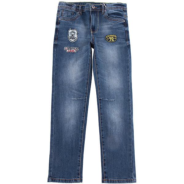 Джинсы Scool для мальчикаДжинсовая одежда<br>Характеристики товара:<br><br>• цвет: синий;<br>• состав; 65% хлопок, 32% полиэстер, 3% эластан;<br>• сезон: демисезон;<br>• особенности: с потертостями;<br>• застежка: ширинка на молнии и пуговица;<br>• наличие шлевок для ремня;<br>• 5 карманов;<br>• коллекция: милитари;<br>• страна бренда: Германия;<br>• страна изготовитель: Китай.<br><br>Джинсы Scool для мальчика. Брюки - джинсы из смесовой ткани с высоким содержанием хлопка. Классическая 5-ти карманная модель со шлевками. При необходимости можно использовать ремень. В качестве декора использованы потертости.<br><br>Джинсы Scool для мальчика (Скул) можно купить в нашем интернет-магазине.<br>Ширина мм: 215; Глубина мм: 88; Высота мм: 191; Вес г: 336; Цвет: синий; Возраст от месяцев: 96; Возраст до месяцев: 108; Пол: Мужской; Возраст: Детский; Размер: 134,164,158,152,146,140; SKU: 7104901;