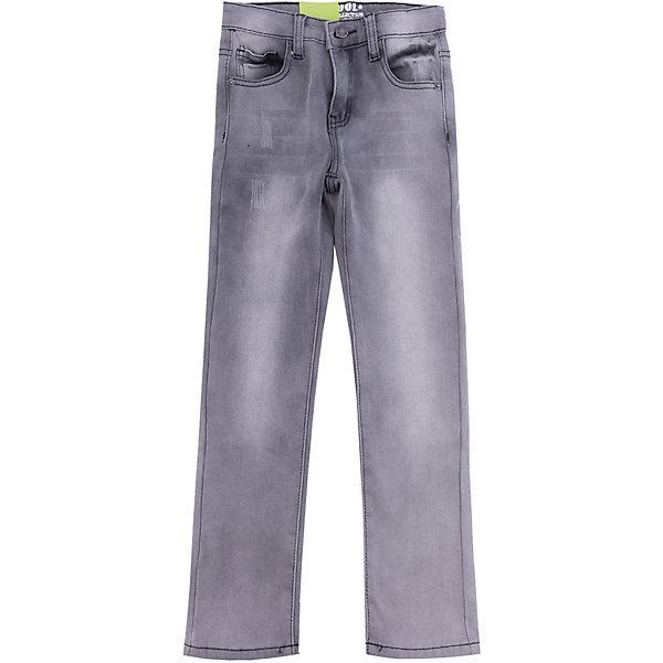 Джинсы Scool для мальчикаДжинсы<br>Характеристики товара:<br><br>• цвет: серый;<br>• состав; 50% хлопок, 50% полиэстер;<br>• сезон: демисезон;<br>• особенности: с потертостями;<br>• застежка: ширинка на молнии и пуговица;<br>• наличие шлевок для ремня;<br>• 5 карманов;<br>• коллекция: милитари;<br>• страна бренда: Германия;<br>• страна изготовитель: Китай.<br><br>Джинсы Scool для мальчика. Брюки - джинсы из смесовой ткани с высоким содержанием хлопка. Классическая 5-ти карманная модель со шлевками. При необходимости можно использовать ремень. В качестве декора использованы потертости.<br><br>Джинсы Scool для мальчика (Скул) можно купить в нашем интернет-магазине.<br><br>Ширина мм: 215<br>Глубина мм: 88<br>Высота мм: 191<br>Вес г: 336<br>Цвет: серый<br>Возраст от месяцев: 108<br>Возраст до месяцев: 120<br>Пол: Мужской<br>Возраст: Детский<br>Размер: 140,134,164,158,152,146<br>SKU: 7104908