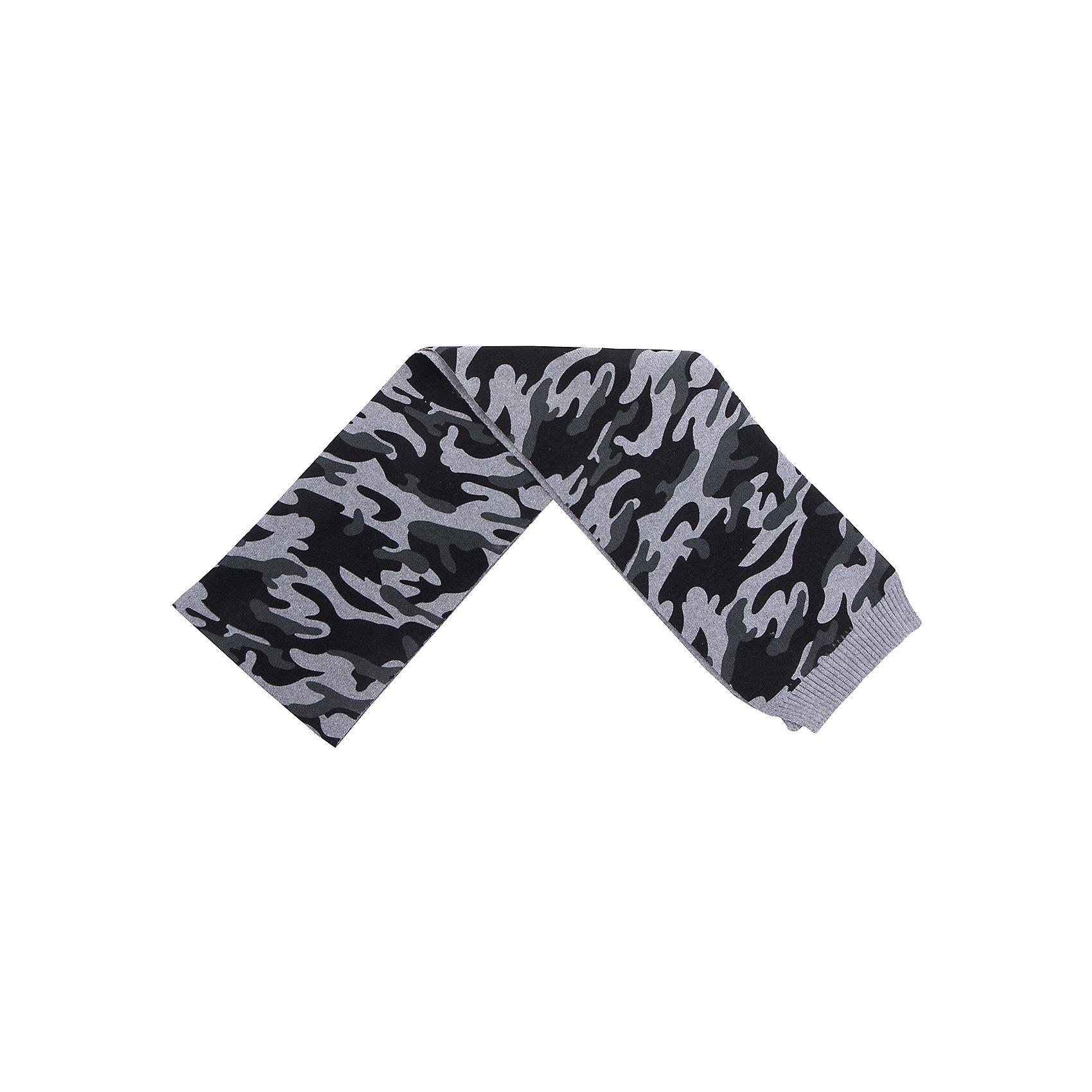 Шарф Scool для мальчикаВерхняя одежда<br>Шарф Scool для мальчика<br>Двусторонний шарф из ткани с высоким содержанием натурального хлопка. Модель выполнена в стиле милитари.<br>Состав:<br>60% хлопок, 40% акрил<br><br>Ширина мм: 88<br>Глубина мм: 155<br>Высота мм: 26<br>Вес г: 106<br>Цвет: белый<br>Возраст от месяцев: 108<br>Возраст до месяцев: 168<br>Пол: Мужской<br>Возраст: Детский<br>Размер: one size<br>SKU: 7105017