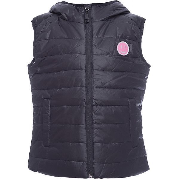 Жилет Scool для девочкиВерхняя одежда<br>Характеристики товара:<br><br>• цвет: черный;<br>• состав: 100% нейлон;<br>• подкладка: 100% 65% полиэстер, 35% хлопок;<br>• утеплитель: 100% полиэстер, 150 г/м2;<br>• сезон: демисезон;<br>• температурный режим: от +15 до 0С;<br>• водоотталкивающая ткань;<br>• застежка: молния с защитой подбородка;<br>• заниженная спинка;<br>• капюшон на мягкой резинке;<br>• два кармана на липучках;<br>• светоотражающие детали;<br>• коллекция: городские огни;<br>• страна бренда: Германия;<br>• страна изготовитель: Китай.<br><br>Жилет Scool для девочки. Утепленный стеганый жилет с капюшоном - отличное решение для прохладной погоды. Модель из водоотталкивающей ткани. Пройма рукавов на мягкой резинке, что позволяет сохранять тепло. Жилет на молнии, специальный карман для фиксации бегунка у горловины изделия не позволит застежке травмировать нежную детскую кожу. <br><br>Подкладка - из мягкого трикотажа, прекрасно впитывает лишнюю влагу. Модель с заниженной спинкой, дополнена вшивными карманами на липучках. Капюшон на мягкой резинке - даже во время активных игр капюшон не упадет с головы ребенка. Модель на плечах декорирована вставками из искусственной кожи.  В качестве декора использована яркая небольшая аппликация.<br><br>Жилет Scool для девочки (Скул) можно купить в нашем интернет-магазине.<br>Ширина мм: 190; Глубина мм: 74; Высота мм: 229; Вес г: 236; Цвет: черный; Возраст от месяцев: 108; Возраст до месяцев: 120; Пол: Женский; Возраст: Детский; Размер: 140,164,134,146,152,158; SKU: 7105177;