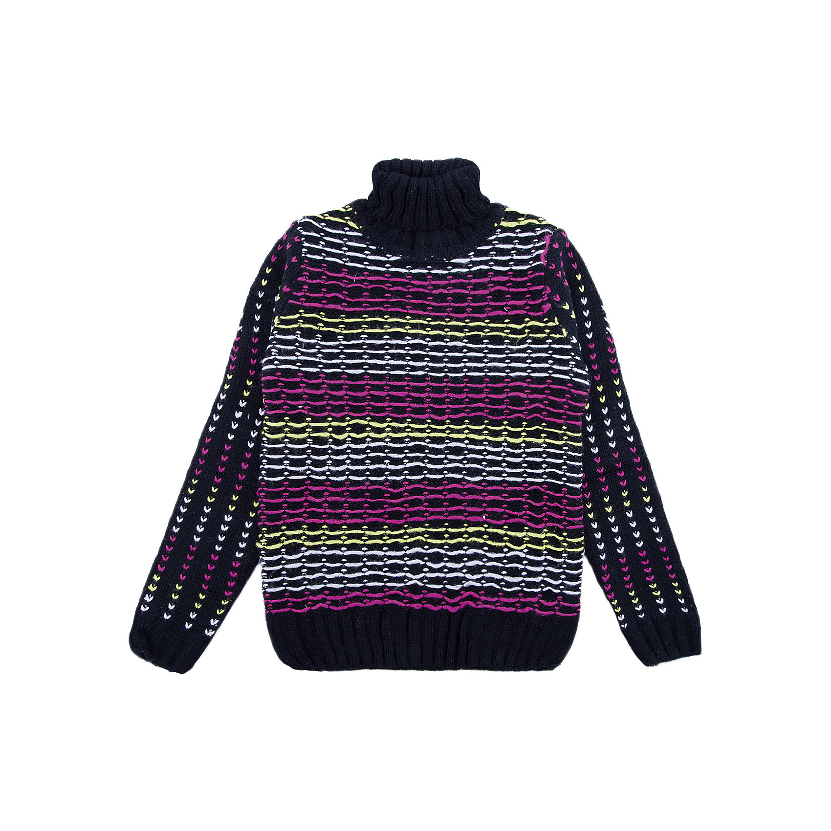 Свитер Scool для девочкиСвитера и кардиганы<br>Свитер Scool для девочки<br>Удобный свитер крупной вязки с высоким горлом - отличное решение дя повседневного гардероба ребенка. Горловина, манжеты и низ изделия на мягких резинках. В качестве декора использованы яркие разноцветные нити. В таком свитере будет тепло в холодное время года.<br>Состав:<br>80% акрил, 20% хлопок<br><br>Ширина мм: 190<br>Глубина мм: 74<br>Высота мм: 229<br>Вес г: 236<br>Цвет: белый<br>Возраст от месяцев: 156<br>Возраст до месяцев: 168<br>Пол: Женский<br>Возраст: Детский<br>Размер: 164,134,140,146,152,158<br>SKU: 7105296