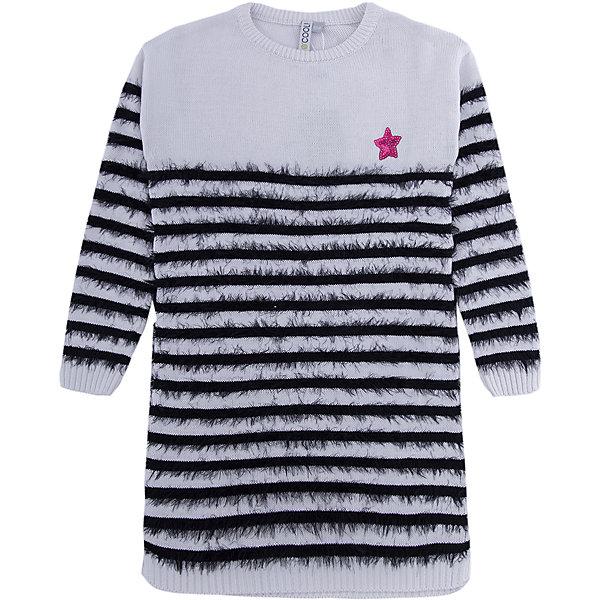 Платье Scool для девочкиПлатья и сарафаны<br>Характеристики товара:<br><br>• цвет: белый/черный;<br>• состав: 80% хлопок, 18% нейлон, 2% эластан;<br>• сезон: демисезон;<br>• особенности: вязаное, в полоску;<br>• свободный крой;<br>• платье с длинным рукавом;<br>• горловина, манжеты и низ изделия на мягких резинках;<br>• коллекция: городские огни;<br>• страна бренда: Германия;<br>• страна изготовитель: Китай.<br><br>Платье Scool для девочки. Вязаное платье - отличное дополнение к повседневному гардеробу ребенка. Модель из двух видов пряжи - обычной и с эффектом пуха. Свободный крой не сковывает движений ребенка. Горловина, манжеты и низ иделия на мягких трикотажных резинках. Платье дополнено аккуратной аппликацией из пайеток.<br><br>Платье Scool для девочки (Скул) можно купить в нашем интернет-магазине.<br>Ширина мм: 236; Глубина мм: 16; Высота мм: 184; Вес г: 177; Цвет: белый; Возраст от месяцев: 132; Возраст до месяцев: 144; Пол: Женский; Возраст: Детский; Размер: 152,158,164,134,140,146; SKU: 7105303;