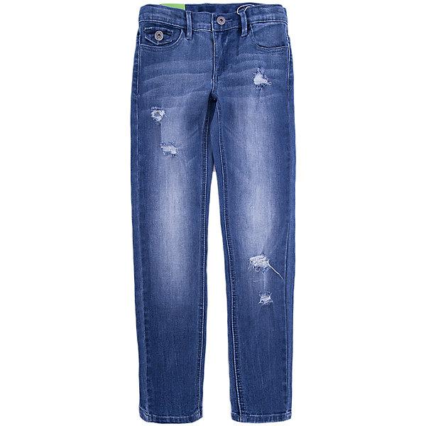 Джинсы Scool для девочкиДжинсовая одежда<br>Характеристики товара:<br><br>• цвет: синий;<br>• состав: 70% хлопок, 20% полиэстер, 8% вискоза, 2% эластан;<br>• сезон: демисезон;<br>• особенности: с потертостями;<br>• застежка: ширинка на молнии и пуговица;<br>• наличие шлевок для ремня;<br>• карманы;<br>• коллекция: городские огни;<br>• страна бренда: Германия;<br>• страна изготовитель: Китай.<br><br>Джинсы Scool для девочки. Брюки джинсы из смесовой ткани с высоким содержанием хлопка. Классическая модель со шлевками. При необходимости можно использовать ремень. В качестве декора использованы потертости.<br><br>Джинсы Scool для девочки (Скул) можно купить в нашем интернет-магазине.<br>Ширина мм: 215; Глубина мм: 88; Высота мм: 191; Вес г: 336; Цвет: синий; Возраст от месяцев: 108; Возраст до месяцев: 120; Пол: Женский; Возраст: Детский; Размер: 140,164,134,158,152,146; SKU: 7105317;