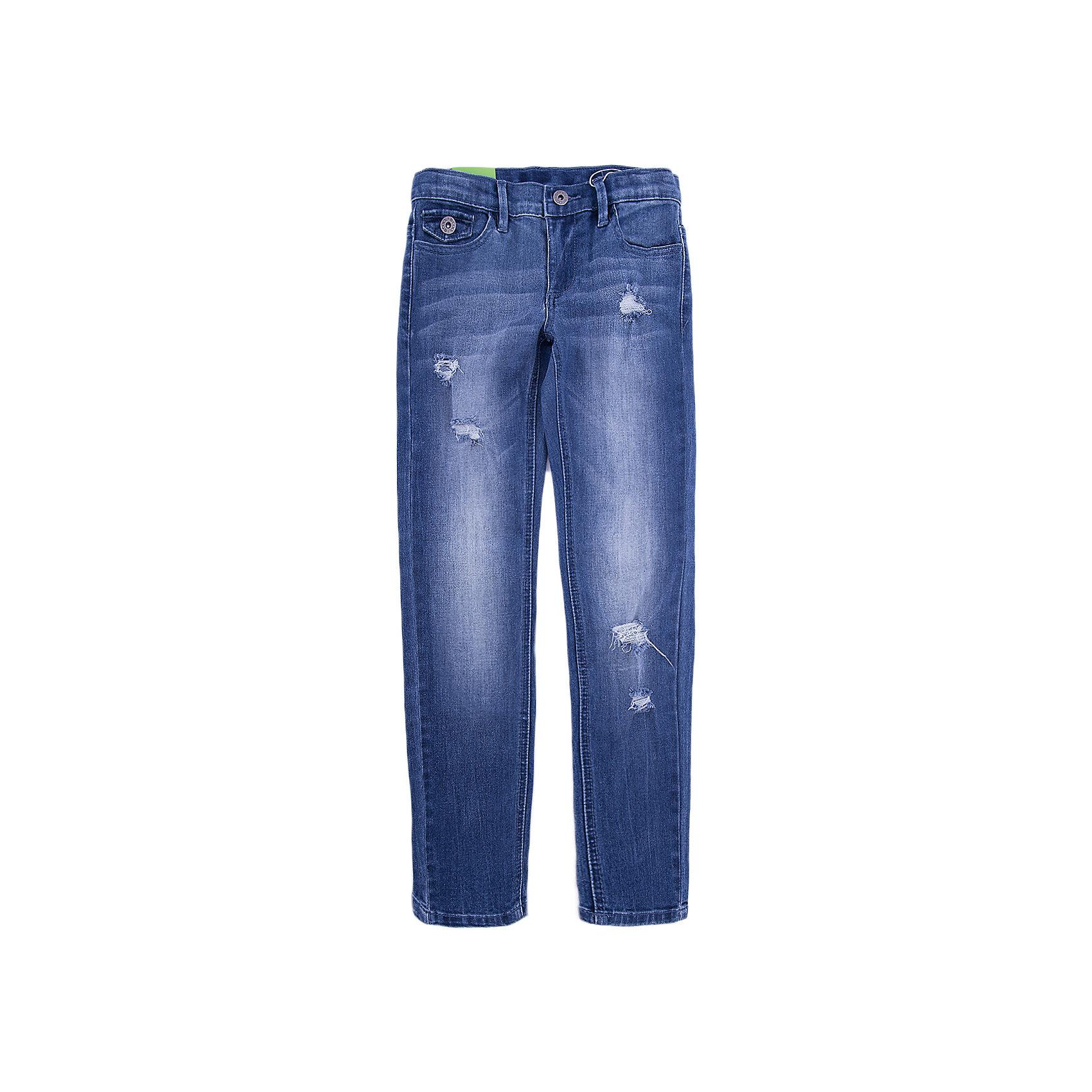 Джинсы Scool для девочкиДжинсы<br>Джинсы Scool для девочки<br>Брюки джинсы из смесовой ткани с высоким содержанием хлопка. Классическая модель со шлевками. При необходимости можно использовать ремень. В качестве декора использованы потертости.<br>Состав:<br>70% хлопок, 20% полиэстер, 8% вискоза, 2% эластан<br><br>Ширина мм: 215<br>Глубина мм: 88<br>Высота мм: 191<br>Вес г: 336<br>Цвет: синий<br>Возраст от месяцев: 156<br>Возраст до месяцев: 168<br>Пол: Женский<br>Возраст: Детский<br>Размер: 164,134,140,146,152,158<br>SKU: 7105317