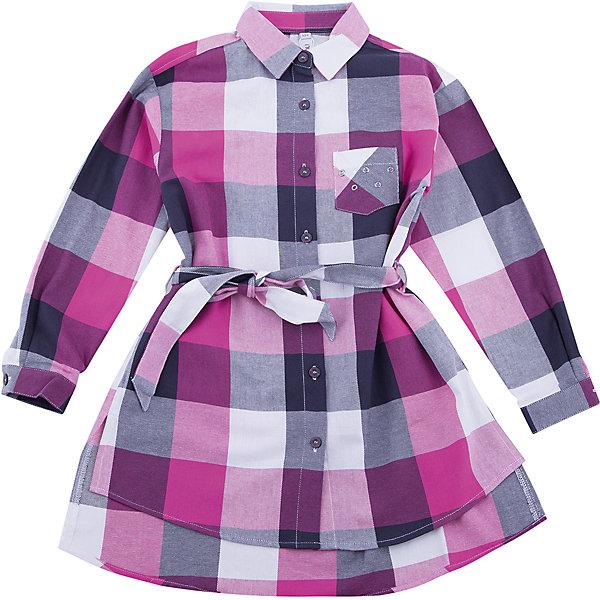 Блузка Scool для девочкиБлузки и рубашки<br>Характеристики товара:<br><br>• цвет: розовый/серый;<br>• состав: 100% хлопок;<br>• сезон: демисезон;<br>• особенности: в клетку;<br>• дополнительный пояс на талии;<br>• отложной воротничок;<br>• накладной нагрудный карман;<br>• коллекция: городские огни;<br>• страна бренда: Германия;<br>• страна изготовитель: Китай.<br><br>Блузка Scool для девочки. Блузка с длинным рукавом классического кроя. Выполнена из натурального хлопка. Модель с отложным воротником, дополнена накладными карманом и поясом.<br><br>Блузку Scool для девочки (Скул) можно купить в нашем интернет-магазине.<br><br>Ширина мм: 186<br>Глубина мм: 87<br>Высота мм: 198<br>Вес г: 197<br>Цвет: белый<br>Возраст от месяцев: 96<br>Возраст до месяцев: 108<br>Пол: Женский<br>Возраст: Детский<br>Размер: 134,164,158,152,146,140<br>SKU: 7105359