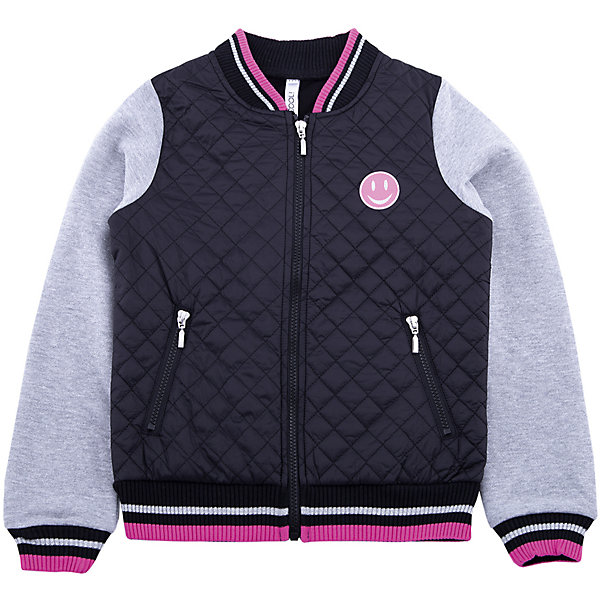 Куртка Scool для девочкиВерхняя одежда<br>Характеристики товара:<br><br>• цвет: черный/серый;<br>• состав: 80% хлопок, 20 полиэстер;<br>• отделка: 100% полиэстер;<br>• сезон: демисезон;<br>• температурный режим: от +15 до 0С;<br>• особенности: стеганая;<br>• застежка: молния;<br>• трикотажные рукава;<br>• горловина, манжеты и низ изделия на мягкой резинке;<br>• карманы на молнии;<br>• коллекция: городские огни;<br>• страна бренда: Германия;<br>• страна изготовитель: Китай.<br><br>Куртка Scool для девочки. Эффектная стеганая куртка - отличное решение для прогулок в прохладную погоду. Модель с трикотажными рукавами, на молнии. Горловина, низ и манжеты на мягких трикотажных резинках. В качестве декора использован яркий принт. Куртка дополнена вшивными карманами на молнии.<br><br>Куртку Scool для девочки (Скул) можно купить в нашем интернет-магазине.<br><br>Ширина мм: 356<br>Глубина мм: 10<br>Высота мм: 245<br>Вес г: 519<br>Цвет: белый<br>Возраст от месяцев: 96<br>Возраст до месяцев: 108<br>Пол: Женский<br>Возраст: Детский<br>Размер: 134,164,158,152,146,140<br>SKU: 7105366