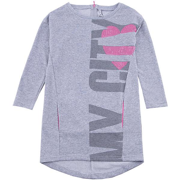 Платье Scool для девочкиПлатья и сарафаны<br>Характеристики товара:<br><br>• цвет: серый;<br>• состав: 80% хлопок, 17% полиэстер, 3% эластан;<br>• сезон: демисезон;<br>• особенности: с надписью;<br>• застежка: молния на спинке;<br>• свободный крой;<br>• платье с длинным рукавом;<br>• два боковых кармана;<br>• декорировано пайетками;<br>• коллекция: городские огни;<br>• страна бренда: Германия;<br>• страна изготовитель: Китай.<br><br>Платье Scool для девочки. Эффектное платье из плотного трикотажа дополнит гардероб ребенка. Модель на спинке застегивается на молнию. В качестве декора использован принт и аппликация из пайеток. Платье дополнено вшивными карманами. Свободный крой не сковывает движений. Натуральный материал не вызывает раздражений.<br><br>Платье Scool для девочки (Скул) можно купить в нашем интернет-магазине.<br>Ширина мм: 236; Глубина мм: 16; Высота мм: 184; Вес г: 177; Цвет: белый; Возраст от месяцев: 156; Возраст до месяцев: 168; Пол: Женский; Возраст: Детский; Размер: 164,134,158,152,146,140; SKU: 7105387;