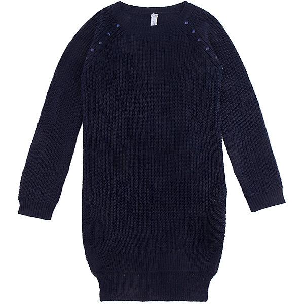 Платье Scool для девочкиПлатья и сарафаны<br>Характеристики товара:<br><br>• цвет: темно-синий;<br>• состав: 70% нейлон, 25% вискоза, 5% шерсть;<br>• сезон: демисезон;<br>• особенности: вязаное;<br>• платье с длинным рукавом;<br>• прямой крой;<br>• округлый вырез;<br>• декорирована бусинами;<br>• коллекция: Привет, Париж!;<br>• страна бренда: Германия;<br>• страна изготовитель: Китай.<br><br>Платье Scool для девочки. Вязаное платье прямого кроя. Модель с длинным рукавом и округлым вырезом горловиы. В качестве декора верхняя часть изделия дополнена бусинами в цвет изделия.<br><br>Платье Scool для девочки (Скул) можно купить в нашем интернет-магазине.<br><br>Ширина мм: 236<br>Глубина мм: 16<br>Высота мм: 184<br>Вес г: 177<br>Цвет: синий<br>Возраст от месяцев: 96<br>Возраст до месяцев: 108<br>Пол: Женский<br>Возраст: Детский<br>Размер: 134,164,158,152,146,140<br>SKU: 7105541