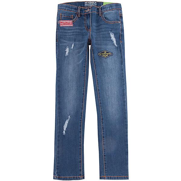 Джинсы Scool для девочкиДжинсовая одежда<br>Характеристики товара:<br><br>• цвет: синий;<br>• состав: 65% хлопок, 32% полиэстер, 3% эластан;<br>• сезон: демисезон;<br>• особенности: с потертостями;<br>• застежка: ширинка на молнии и пуговица;<br>• наличие шлевок для ремня;<br>• коллекция: Привет, Париж!;<br>• страна бренда: Германия;<br>• страна изготовитель: Китай.<br><br>Джинсы Scool для девочки. Брюки - джинсы из смесовой ткани с высоким содержанием хлопка. Классическая модель со шлевками. В качестве декора использованы небольшие аппликации и потертости.<br><br>Джинсы Scool для девочки (Скул) можно купить в нашем интернет-магазине.<br><br>Ширина мм: 215<br>Глубина мм: 88<br>Высота мм: 191<br>Вес г: 336<br>Цвет: синий<br>Возраст от месяцев: 96<br>Возраст до месяцев: 108<br>Пол: Женский<br>Возраст: Детский<br>Размер: 134,164,158,152,146,140<br>SKU: 7105548