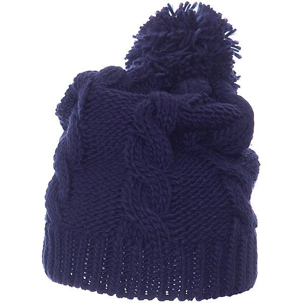 Шапка Scool для девочкиГоловные уборы<br>Характеристики товара:<br><br>• цвет: синий;<br>• состав: 100% полиэстер;<br>• подкладка: 100% полиэстер, флис;<br>• без дополнительного утепления;<br>• сезон: демисезон;<br>• температурный режим: от +15 до 0С;<br>• особенности: вязаная;<br>• шапка с помпоном;<br>• коллекция: Привет, Париж!;<br>• страна бренда: Германия;<br>• страна изготовитель: Китай.<br><br>Шапка Scool для девочки. Вязаная шапка на подкладке из теплого флиса - отличное решение для прогулок в холодную погоду. Модель хорошо облегает голову и комфортна при носке. Модель декорирована эффектным помпоном.<br><br>Шапку Scool для девочки (Скул) можно купить в нашем интернет-магазине.<br>Ширина мм: 89; Глубина мм: 117; Высота мм: 44; Вес г: 155; Цвет: синий; Возраст от месяцев: 96; Возраст до месяцев: 120; Пол: Женский; Возраст: Детский; Размер: 56,54; SKU: 7105605;