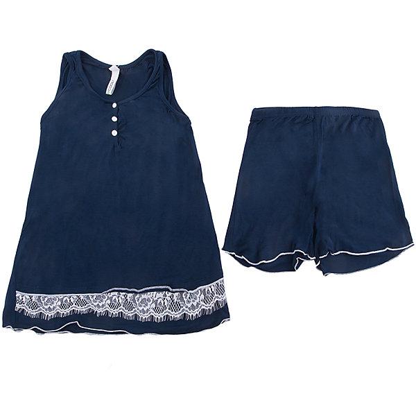 Пижама Scool для девочкиКомплекты<br>Характеристики товара:<br><br>• цвет: синий;<br>• состав: 95% вискоза, 5% эластан;<br>• сезон: круглый год;<br>• особенности: с тесьмой;<br>• шорты на широкой резинке;<br>• майка на широких бретельках;<br>• коллекция: Домашний уют;<br>• страна бренда: Германия;<br>• страна изготовитель: Китай.<br><br>Комплект Scool для девочки. Комплект из вискозы отлично дополнит гардероб ребенка. Модель сможет служить и домашней одеждой, и уютной пижамой. За счет высокой гигроскопичности, материал прекрасно впитывает лишнюю влагу, приятен к телу и не вызывает раздражений. Шорты на широкой резинке, не сдавливающей живот ребенка. Майка на широких бретелях, дополнена рядом небольших пуговиц. Декорирована аккуратной тесьмой.<br><br>Пижаму Scool для девочки (Скул) можно купить в нашем интернет-магазине.<br>Ширина мм: 356; Глубина мм: 10; Высота мм: 245; Вес г: 519; Цвет: белый; Возраст от месяцев: 156; Возраст до месяцев: 168; Пол: Женский; Возраст: Детский; Размер: 164,134,158,152,146,140; SKU: 7105701;