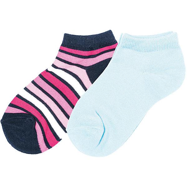 Носки Scool 2 пары для девочкиНоски<br>Характеристики товара:<br><br>• цвет: голубой/синий/розовый;<br>• состав: 75% хлопок, 22% нейлон, 3% эластан;<br>• сезон: круглый год;<br>• особенности: однотонные, в полоску;<br>• хорошо пропускают воздух;<br>• мягкая резинка;<br>• короткие носки;<br>• коллекция: Домашний уют;<br>• страна бренда: Германия;<br>• страна изготовитель: Китай.<br><br>Носки Scool для девочки. Носки очень мягкие, из натуральных материалов, приятные к телу и не сковывают движений. Хорошо пропускают воздух, тем самым позволяя коже дышать. Даже частые стирки, при условии соблюдений рекомендаций по уходу, не изменят ни форму, ни цвет изделия. Одна из моделей выполнена в технике - yarn dyed - в процессе производства в полотне используются разного цвета нити, вторая дополнена оригинальным жаккардовым рисунком, третья - однотонная.  Мягкая резинка не сдавливает нежную детскую кожу.<br><br>Носки Scool для девочки (Скул) можно купить в нашем интернет-магазине.<br><br>Ширина мм: 87<br>Глубина мм: 10<br>Высота мм: 105<br>Вес г: 115<br>Цвет: разноцветный<br>Возраст от месяцев: 108<br>Возраст до месяцев: 120<br>Пол: Женский<br>Возраст: Детский<br>Размер: 20,24,22<br>SKU: 7105742