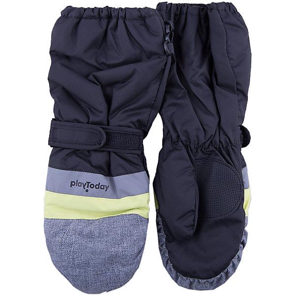 Варежки PlayToday для мальчикаПерчатки, варежки<br>Характеристики товара:<br><br>• цвет: серый<br>• состав ткани: 100% полиэстер<br>• подкладка: 100% полиэстер<br>• утеплитель: 100% полиэстер<br>• сезон: зима<br>• температурный режим: от -15 до +5<br>• особенности модели: спортивный стиль<br>• застежка: утяжка, резинки<br>• страна бренда: Германия<br>• страна изготовитель: Китай<br><br>Стильные варежки для мальчика снабжены резинками для удержания тепла внутри. Детские варежки имеет удлиненные запястья. Варежки для детей - на мягкой флисовой подкладке. Одежда и аксессуары для детей от PlayToday - качественные и красивые вещи. <br><br>Варежки PlayToday (ПлэйТудэй) для мальчика можно купить в нашем интернет-магазине.<br><br>Ширина мм: 162<br>Глубина мм: 171<br>Высота мм: 55<br>Вес г: 119<br>Цвет: белый<br>Возраст от месяцев: 84<br>Возраст до месяцев: 96<br>Пол: Мужской<br>Возраст: Детский<br>Размер: 4,2,3<br>SKU: 7106054