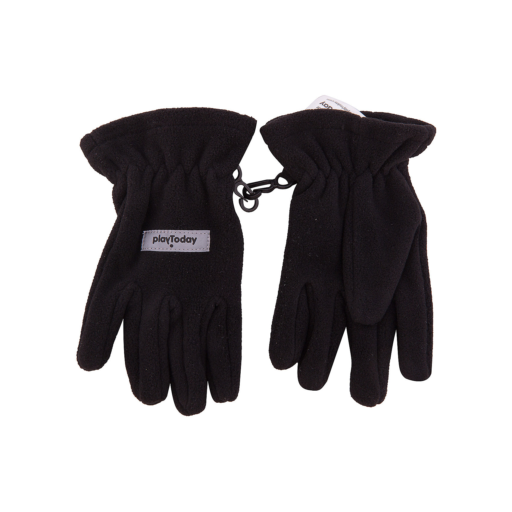 Перчатки PlayToday для мальчикаПерчатки, варежки<br>Перчатки PlayToday для мальчика<br>Перчатки из теплого флиса - отличное решение для прогулок в холодную погоды. Запястья модели с резинкой для дополнительного сохранения тепла. Перчатки дополнены специальными крючками, при необходимости их можно скрепить между собой или пристегнуть к куртке.<br>Состав:<br>100% полиэстер<br><br>Ширина мм: 162<br>Глубина мм: 171<br>Высота мм: 55<br>Вес г: 119<br>Цвет: черный<br>Возраст от месяцев: 84<br>Возраст до месяцев: 96<br>Пол: Мужской<br>Возраст: Детский<br>Размер: 4,2,3<br>SKU: 7106058