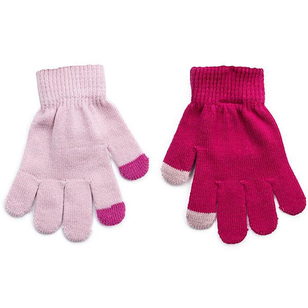 Перчатки PlayToday для девочкиПерчатки, варежки<br>Характеристики товара:<br><br>• цвет: розовый<br>• комплектация: 2 пары<br>• состав ткани: 80% хлопок, 18% нейлон, 2% эластан<br>• сезон: зима<br>• температурный режим: от -10 до +10<br>• особенности модели: сенсорные<br>• застежка: резинки<br>• страна бренда: Германия<br>• страна изготовитель: Китай<br><br>Детская одежда и аксессуары от PlayToday - это стильные вещи по доступным ценам. Сенсорные перчатки для девочки снабжены резинками для удержания тепла внутри. Детские перчатки отлично подходят для прохладной погоды. Эти перчатки для детей позволяют пользоваться гаджетами, не снимая их. <br><br>Перчатки PlayToday (ПлэйТудэй) для девочки можно купить в нашем интернет-магазине.<br><br>Ширина мм: 162<br>Глубина мм: 171<br>Высота мм: 55<br>Вес г: 119<br>Цвет: белый<br>Возраст от месяцев: 48<br>Возраст до месяцев: 60<br>Пол: Женский<br>Возраст: Детский<br>Размер: 2,4,3<br>SKU: 7106147