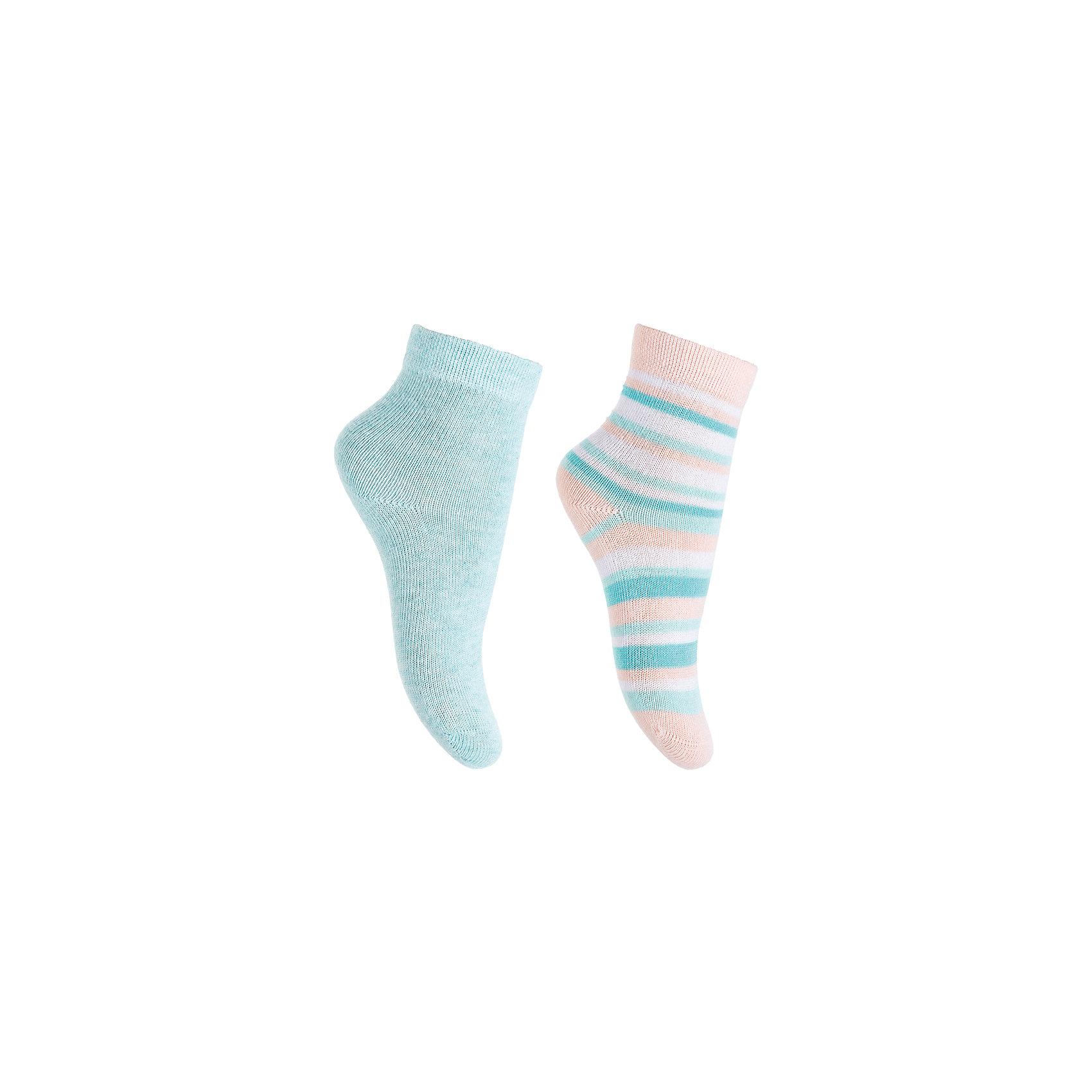 Носки, 2 пары  PlayToday для девочкиНоски<br>Носки PlayToday для девочки<br>Носки очень мягкие, из  натуральных материалов, приятные к телу и не сковывают движений. Хорошо пропускают воздух, тем самым позволяя коже дышать.   Одна модель выполнена в технике - yarn dyed - в процессе производства в полотне используются разного цвета нити. Даже частые стирки, при условии соблюдений рекомендаций по уходу, не изменят ни форму, ни цвет изделия.  Мягкая резинка не сдавливает нежную детскую кожу.<br>Состав:<br>75% хлопок, 22% нейлон, 3% эластан<br><br>Ширина мм: 87<br>Глубина мм: 10<br>Высота мм: 105<br>Вес г: 115<br>Цвет: голубой<br>Возраст от месяцев: 18<br>Возраст до месяцев: 24<br>Пол: Женский<br>Возраст: Детский<br>Размер: 12,11<br>SKU: 7107256