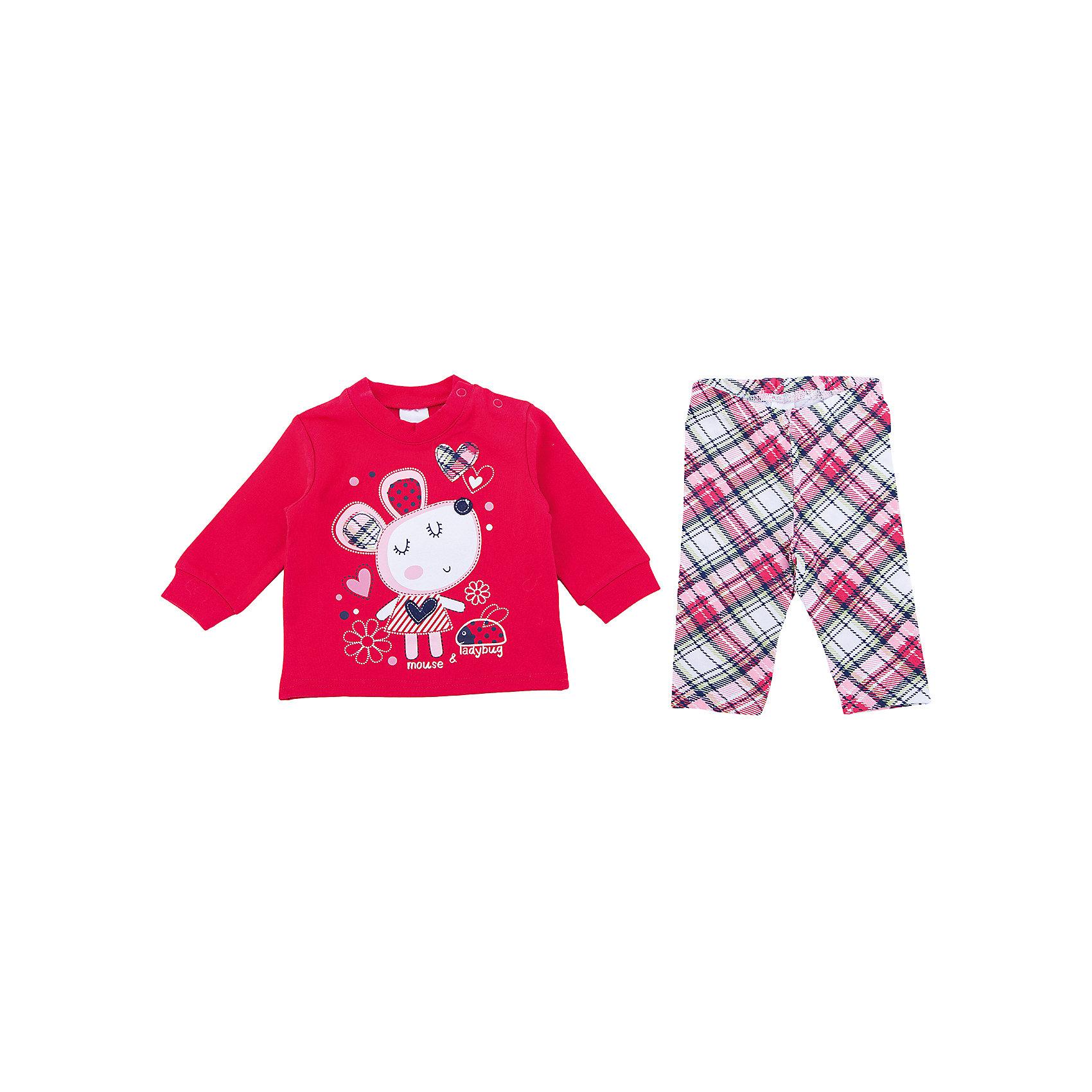 Комплект: футболка с длинным рукавом и брюки PlayToday для девочкиКомплекты<br>Комплект: футболка с длинным рукавом и брюки PlayToday для девочки<br>Комплект из футболки с длинным рукавом и леггинсов сможет быть и повседневной, и домашней одеждой. Для удобства снимания и одевания, футболка дополнена удобными застежками - кнопками. Рукава на мягких манжетах. В качестве декора использован эффектный принт. Леггинсы на широкой мягкой резинке. Свободный крой не сковывает движений ребенка. Мягкий материал приятен к телу и не вызывает раздражений.<br>Состав:<br>100% хлопок<br><br>Ширина мм: 230<br>Глубина мм: 40<br>Высота мм: 220<br>Вес г: 250<br>Цвет: белый<br>Возраст от месяцев: 6<br>Возраст до месяцев: 9<br>Пол: Женский<br>Возраст: Детский<br>Размер: 74,56,62,68<br>SKU: 7107282