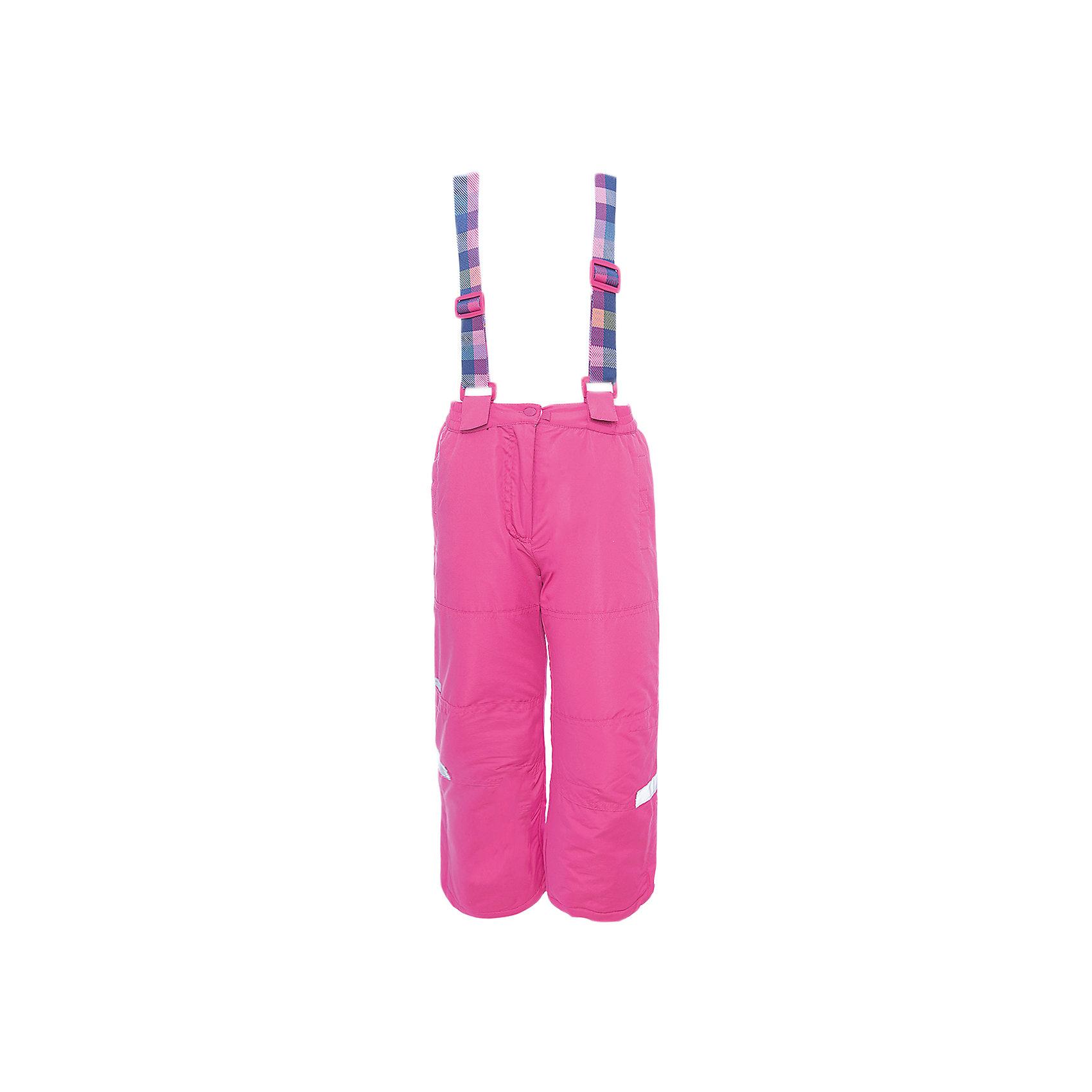 Брюки PlayToday для девочкиВерхняя одежда<br>Брюки PlayToday для девочки<br>Брюки из водонепроницаемой ткани. Регулируемые бретели на липучках, при необходимости их можно отстегнуть. Пояс на широкой резинке. Брюки застегиваются на молнию и кнопку. Низ штанин дополнен специальными манжетами со штрипками. Светоотражатели обеспечат видимость ребенка в темное время суток. Брюки с встрочными карманами на липучках.<br>Состав:<br>Верх: 100% полиэстер, Подкладка: 100% полиэстер, Наполнитель: 100% полиэстер, 150 г/м2<br><br>Ширина мм: 215<br>Глубина мм: 88<br>Высота мм: 191<br>Вес г: 336<br>Цвет: розовый<br>Возраст от месяцев: 84<br>Возраст до месяцев: 96<br>Пол: Женский<br>Возраст: Детский<br>Размер: 128,98,104,110,116,122<br>SKU: 7107372