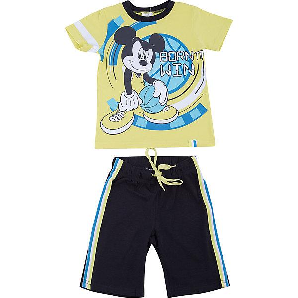 Комплект: футболка и шорты PlayToday для мальчикаКомплекты<br>Характеристики товара:<br><br>• цвет: зеленый, черный<br>• комплектация: футболка и шорты<br>• состав ткани: 95% хлопок, 5% эластан<br>• сезон: лето<br>• особенность модели: спортивный стиль<br>• короткие рукава<br>• пояс: резинка, шнурок<br>• страна бренда: Германия<br>• страна изготовитель: Китай<br><br>Трикотажный детский комплект состоит из футболки и шорт. Комплект для мальчика подойдет для занятий спортом. Комплект для детей сделан из легких качественных материалов. Детская одежда и обувь от европейского бренда PlayToday - выбор многих родителей. <br><br>Комплект: футболка и шорты PlayToday (ПлэйТудэй) для мальчика можно купить в нашем интернет-магазине.<br><br>Ширина мм: 199<br>Глубина мм: 10<br>Высота мм: 161<br>Вес г: 151<br>Цвет: белый<br>Возраст от месяцев: 108<br>Возраст до месяцев: 120<br>Пол: Мужской<br>Возраст: Детский<br>Размер: 140,98,104,110,116,134,122,128<br>SKU: 7107497