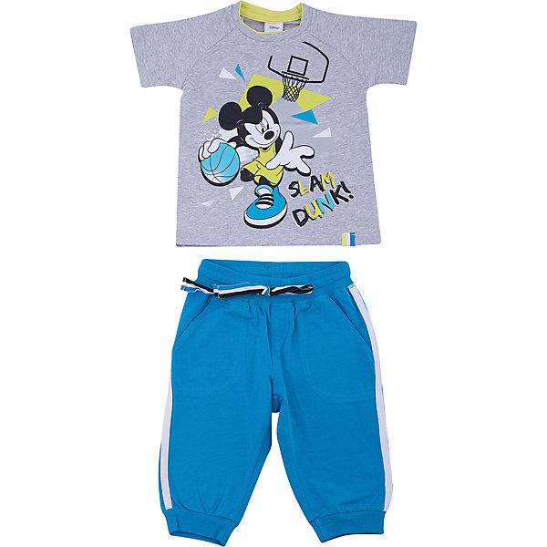 Комплект: футболка и брюки PlayToday для мальчикаКомплекты<br>Характеристики товара:<br><br>• цвет: голубой<br>• комплектация: футболка и брюки<br>• состав ткани: 95% хлопок, 5% эластан<br>• сезон: лето<br>• особенность модели: спортивный стиль<br>• короткие рукава<br>• пояс: резинка, шнурок<br>• страна бренда: Германия<br>• страна изготовитель: Китай<br><br> Этот детский комплект отличается мягкими швами и продуманным кроем. Трикотажный детский комплект состоит из футболки и брюк. Комплект для мальчика подойдет для занятий спортом. Комплект для детей сделан из легких качественных материалов. Детская одежда и обувь от европейского бренда PlayToday - выбор многих родителей. <br><br>Комплект: футболка и брюки PlayToday (ПлэйТудэй) для мальчика можно купить в нашем интернет-магазине.<br>Ширина мм: 199; Глубина мм: 10; Высота мм: 161; Вес г: 151; Цвет: белый; Возраст от месяцев: 108; Возраст до месяцев: 120; Пол: Мужской; Возраст: Детский; Размер: 140,98,134,128,122,116,110,104; SKU: 7107506;