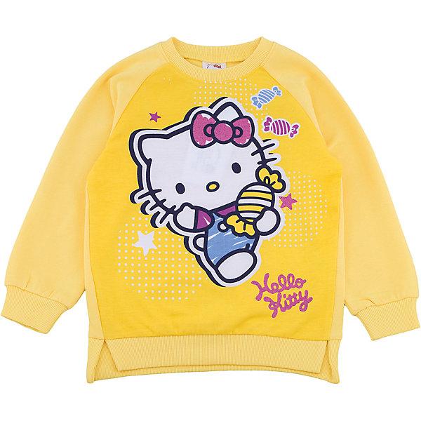 Толстовка PlayToday для девочкиТолстовки<br>Характеристики товара:<br><br>• цвет: желтый<br>• состав ткани: 95% хлопок, 5% эластан<br>• сезон: демисезон<br>• длинные рукава<br>• страна бренда: Германия<br>• страна изготовитель: Китай<br><br>Одежда и аксессуары для детей от PlayToday - это качественные и красивые вещи. Толстовка для девочки снабжена мягкими манжетами. Детская толстовка декорирована оригинальным принтом. Толстовка для детей сделана из приятного на ощупь трикотажа. <br><br>Толстовку PlayToday (ПлэйТудэй) для девочки можно купить в нашем интернет-магазине.<br><br>Ширина мм: 190<br>Глубина мм: 74<br>Высота мм: 229<br>Вес г: 236<br>Цвет: белый<br>Возраст от месяцев: 24<br>Возраст до месяцев: 36<br>Пол: Женский<br>Возраст: Детский<br>Размер: 98,128,122,116,110,104<br>SKU: 7107620