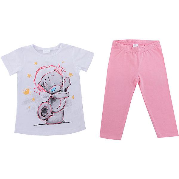 Комплект: футболка и леггинсы PlayToday для девочкиКомплекты<br>Характеристики товара:<br><br>• цвет: розовый<br>• комплектация: футболка и леггинсы<br>• состав ткани: 95% хлопок, 5% эластан<br>• сезон: лето<br>• короткие рукава<br>• пояс: резинка<br>• страна бренда: Германия<br>• страна изготовитель: Китай<br><br>Трикотажный детский комплект состоит из футболки и леггинсов. Комплект для девочки украшен принтом. Комплект для детей сделан из легких качественных материалов. Детская одежда и обувь от европейского бренда PlayToday - выбор многих родителей. <br><br>Комплект: футболка и леггинсы PlayToday (ПлэйТудэй) для девочки можно купить в нашем интернет-магазине.<br>Ширина мм: 199; Глубина мм: 10; Высота мм: 161; Вес г: 151; Цвет: белый; Возраст от месяцев: 84; Возраст до месяцев: 96; Пол: Женский; Возраст: Детский; Размер: 128,98,104,110,116,122; SKU: 7107684;